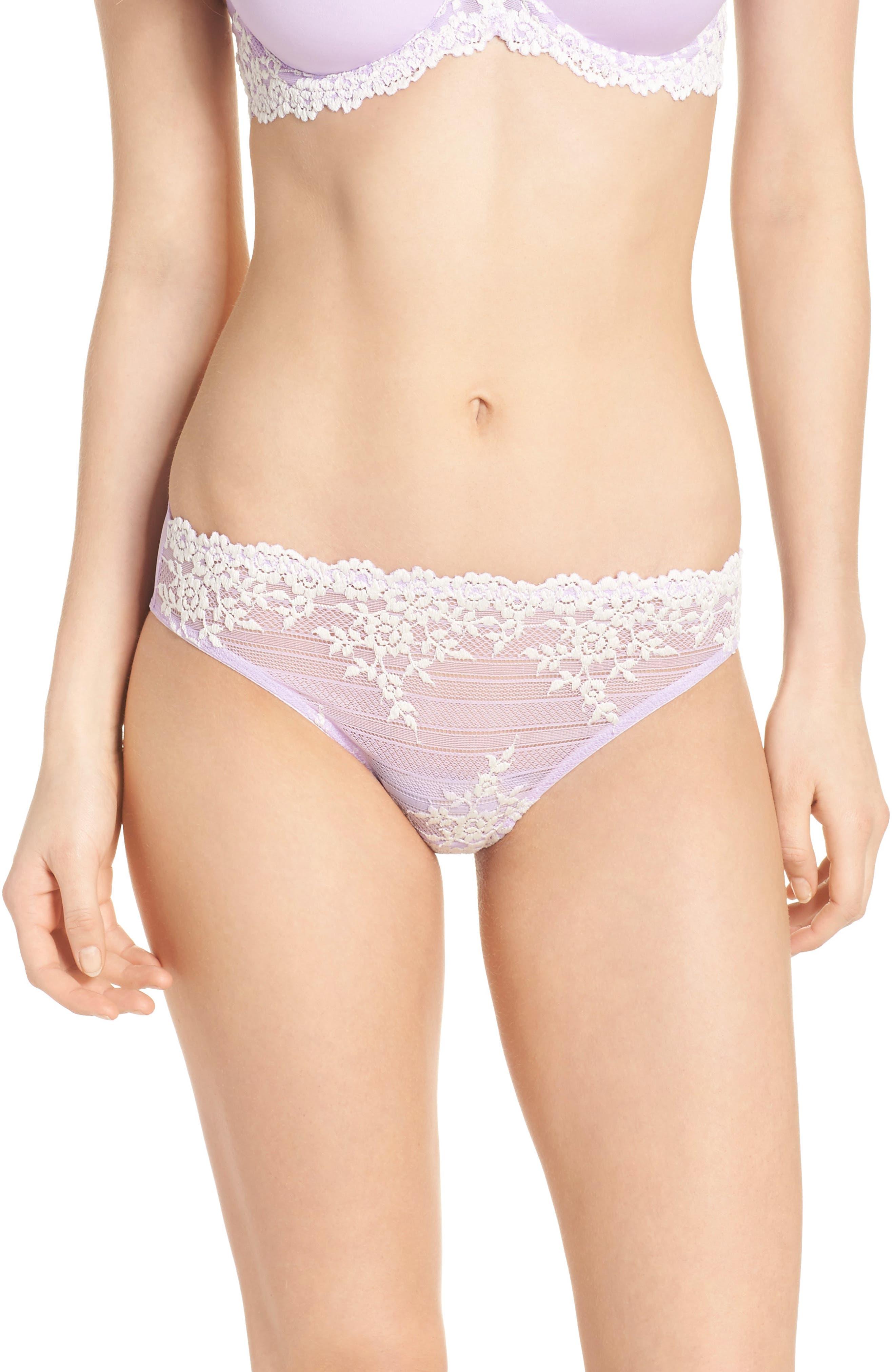 'Embrace' Lace Bikini,                         Main,                         color, Lavender