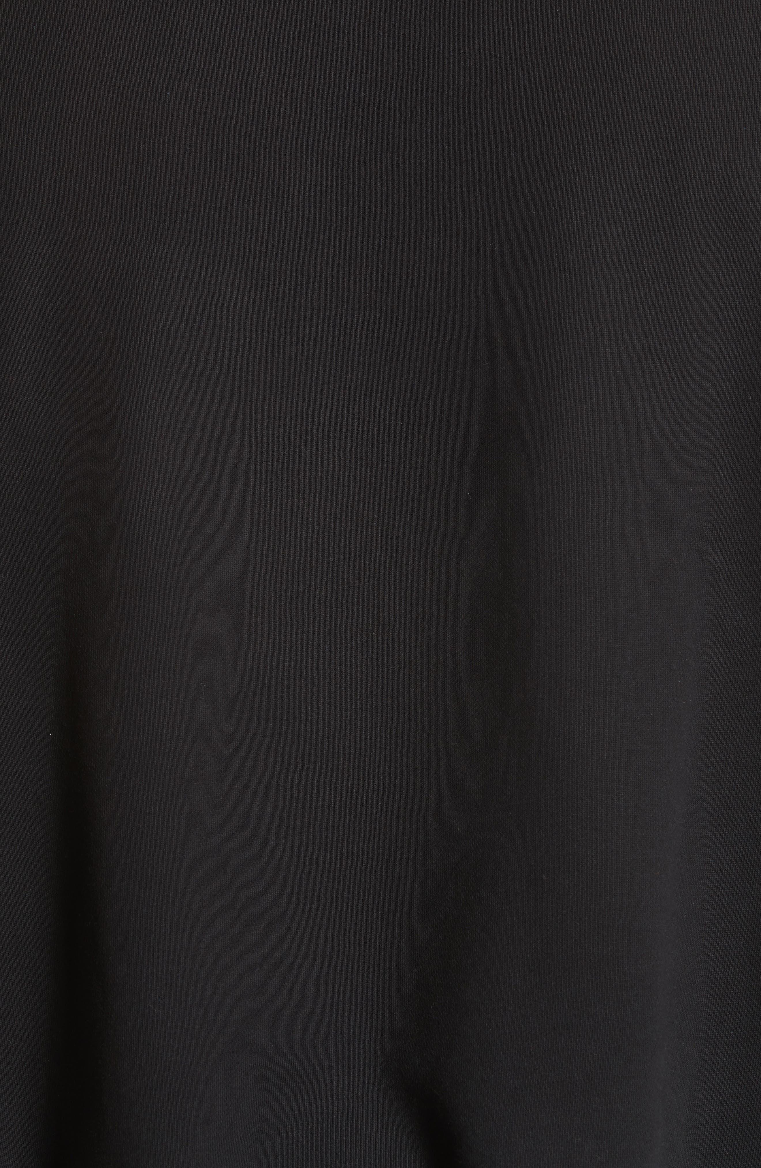 Reconstructed Crewneck Sweatshirt,                             Alternate thumbnail 5, color,                             Black