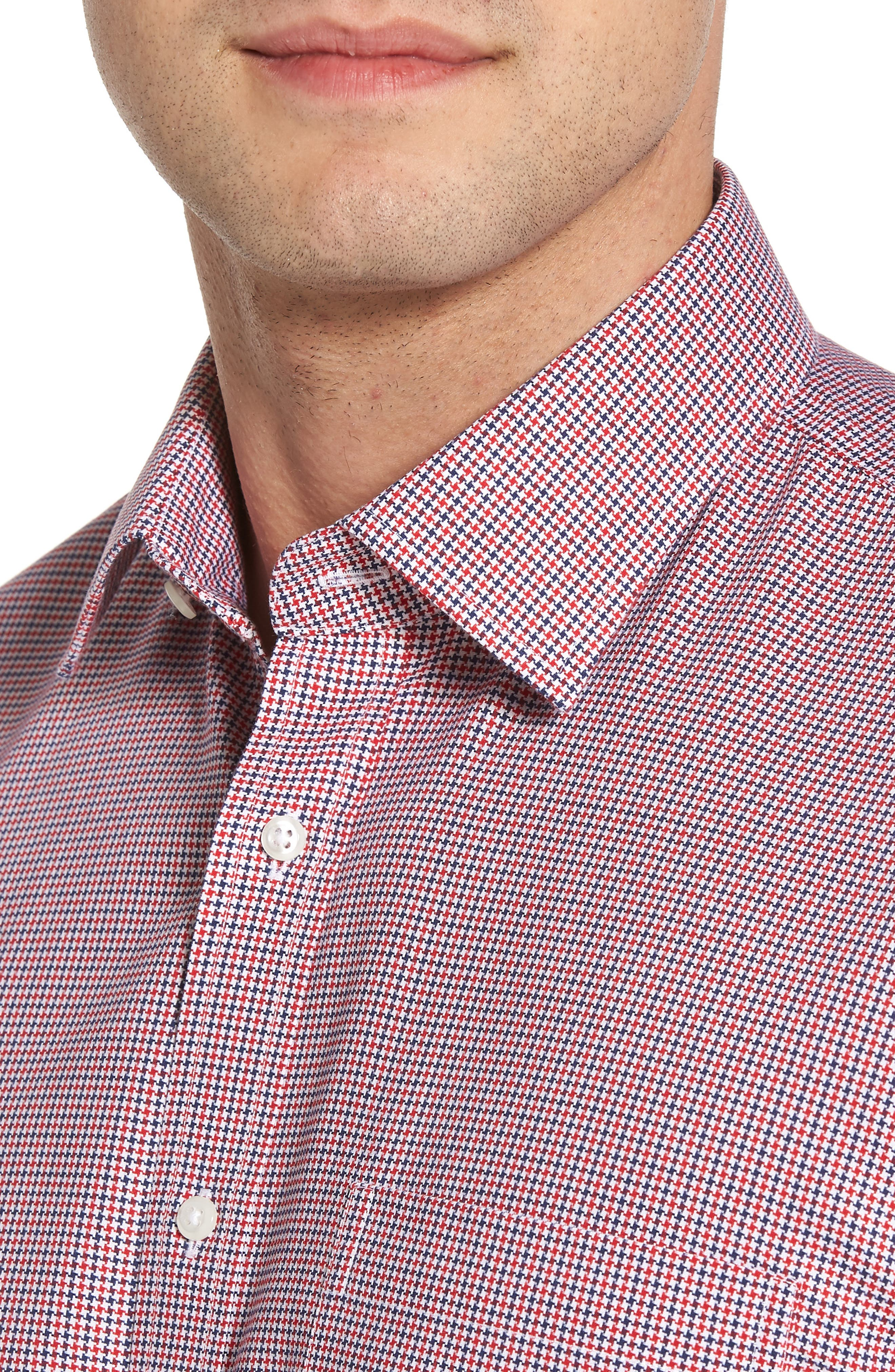 Alternate Image 4  - Nordstrom Men's Shop Smartcare™ Traditional Fit Houndstooth Dress Shirt