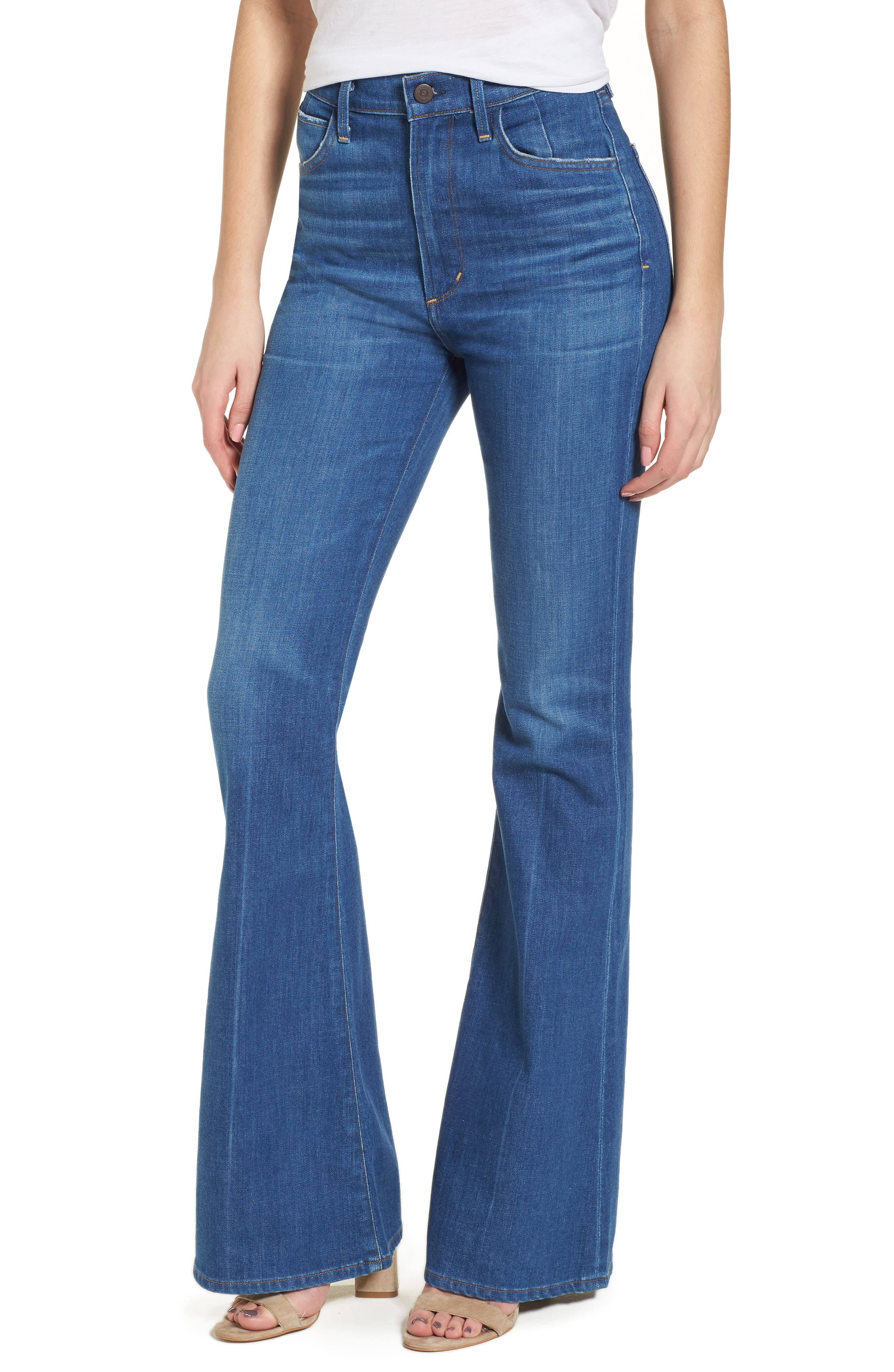Cherie High Waist Bell Jeans,                             Main thumbnail 1, color,                             Frampton