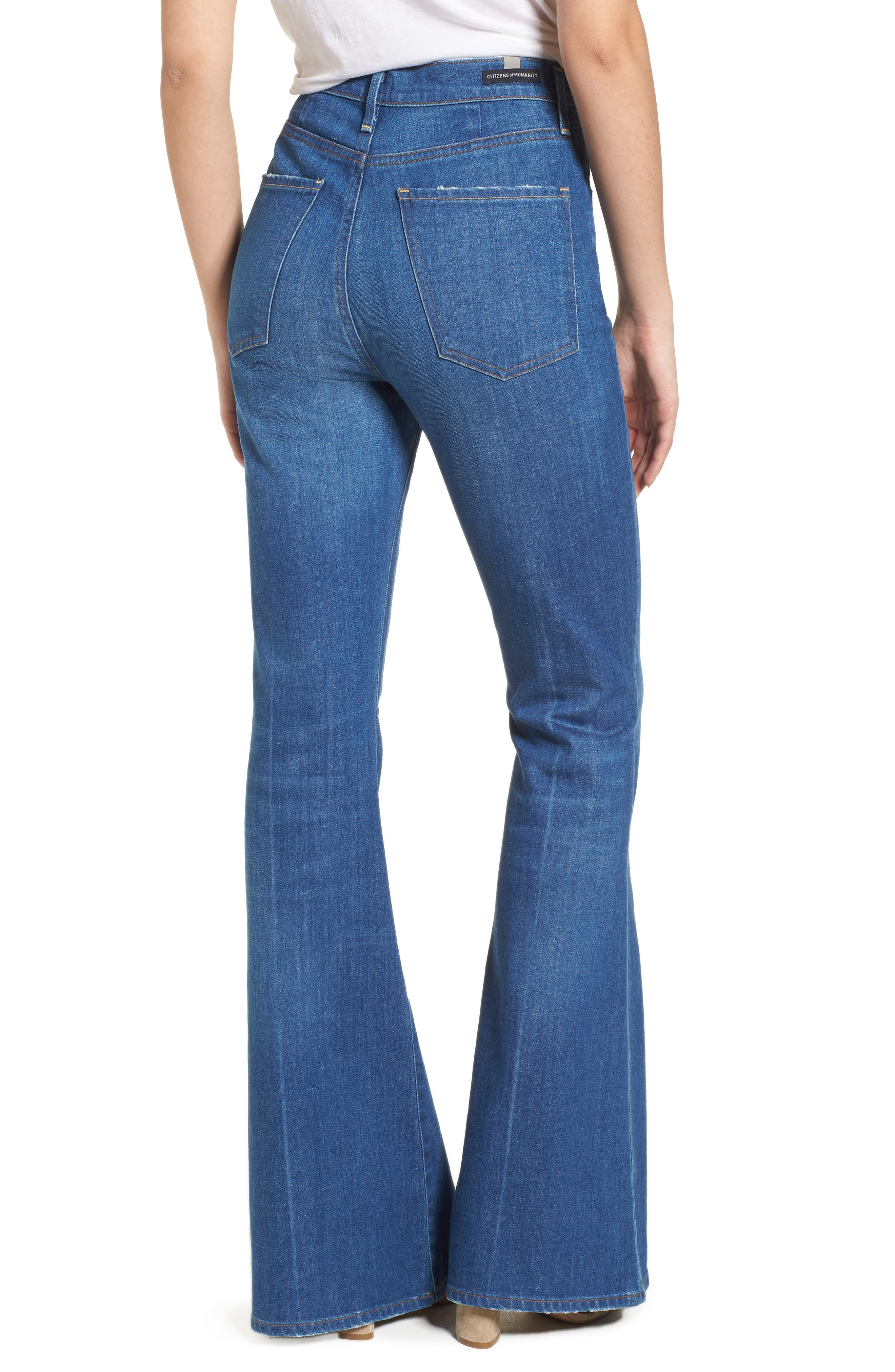 Cherie High Waist Bell Jeans,                             Alternate thumbnail 2, color,                             Frampton