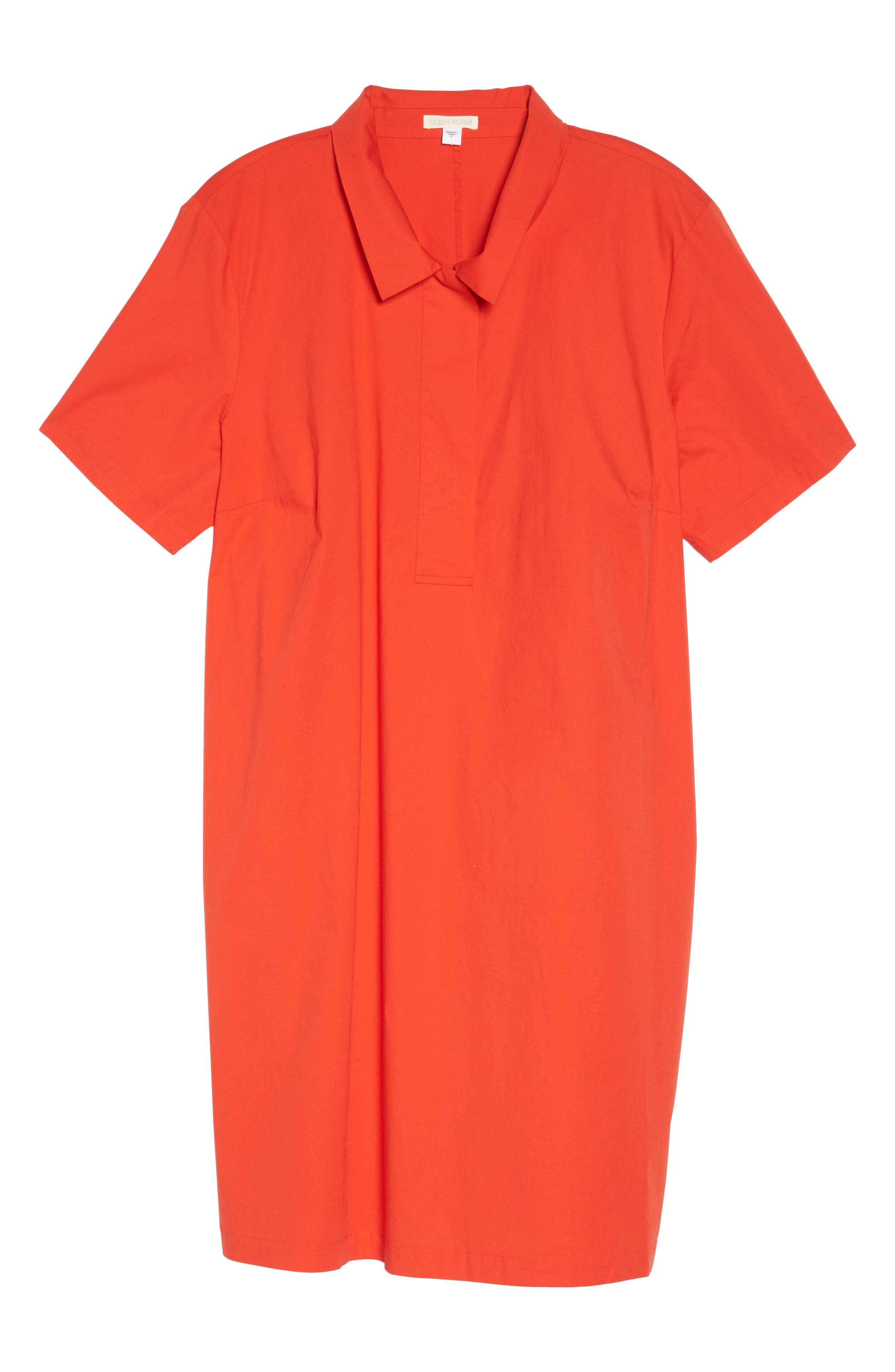 Alternate Image 6  - Eileen Fisher Collared Shift Dress (Plus Size)