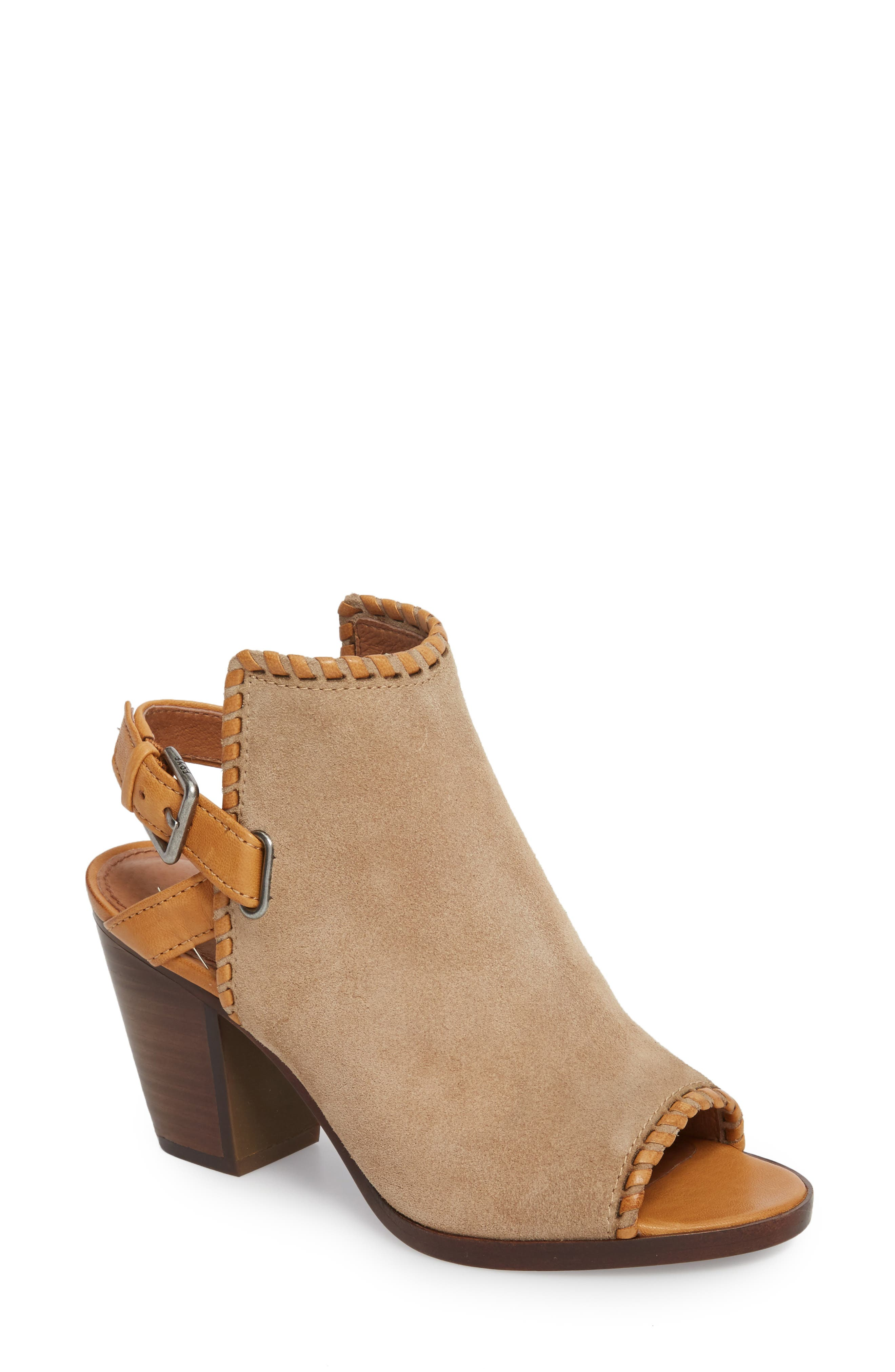 Dani Shield Sandal,                         Main,                         color, Beige Suede