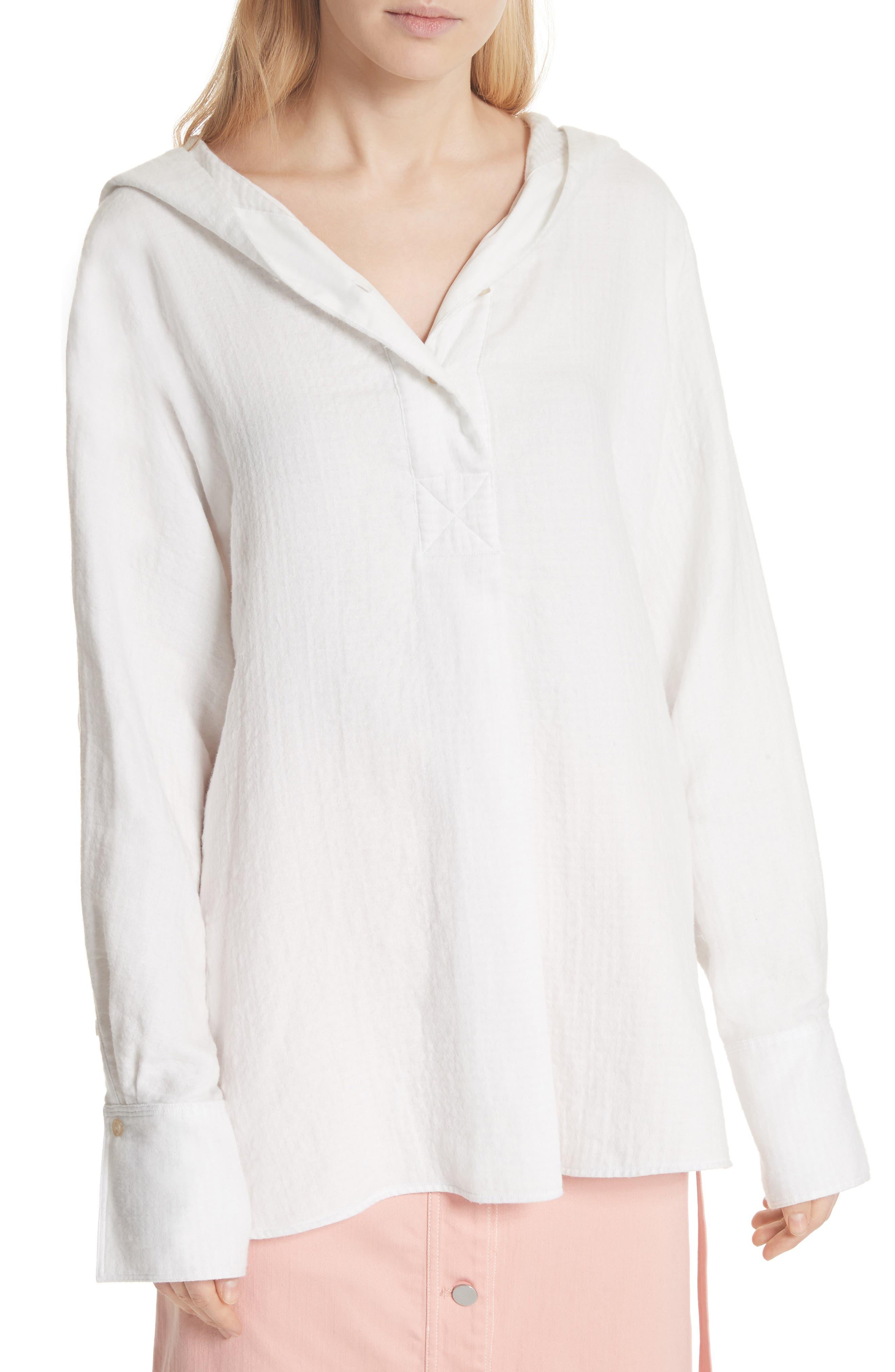 Carson Hooded Shirt,                         Main,                         color, White
