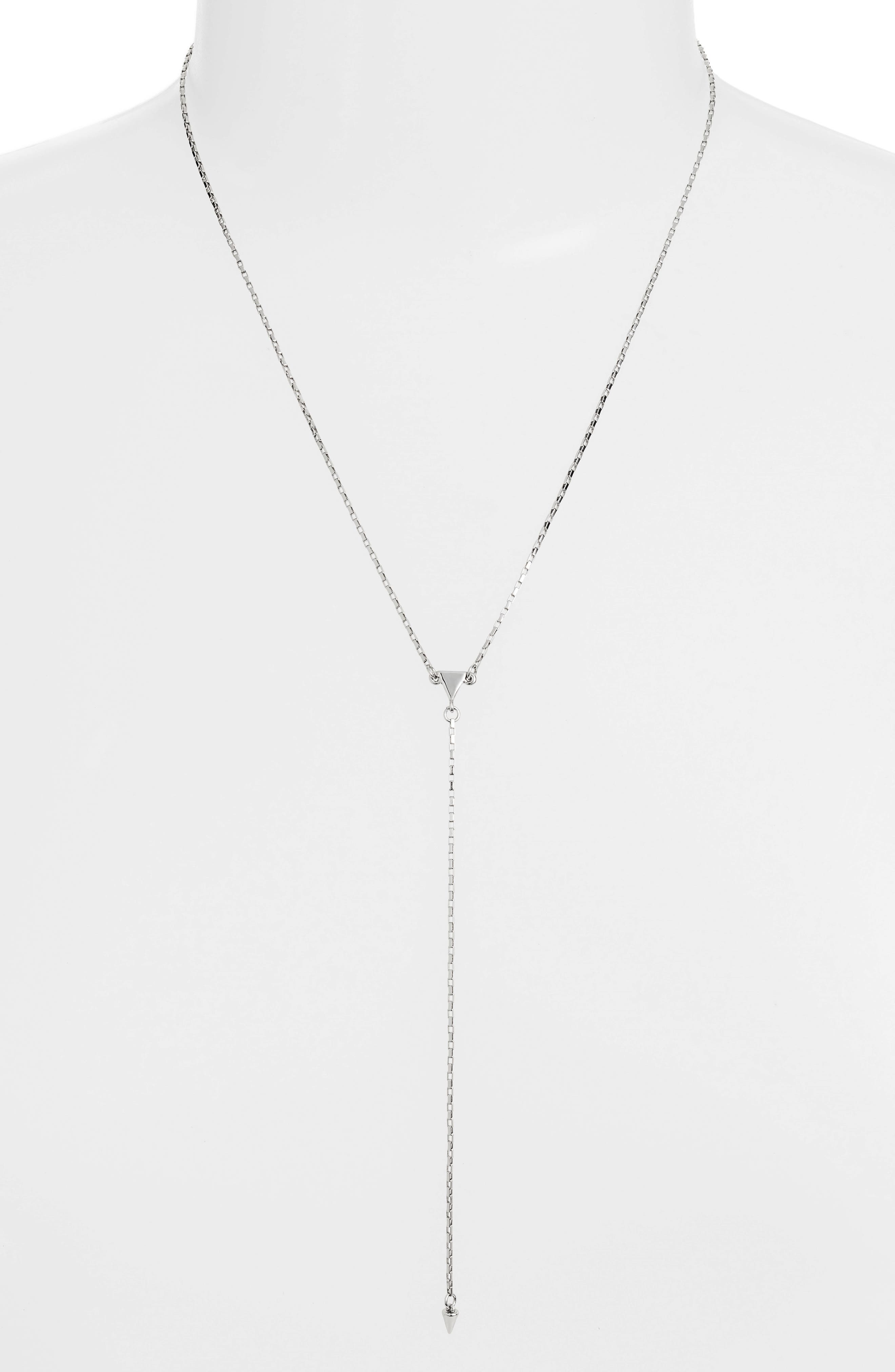 Rebecca Minkoff Ellie Triangle Y-Shape Necklace