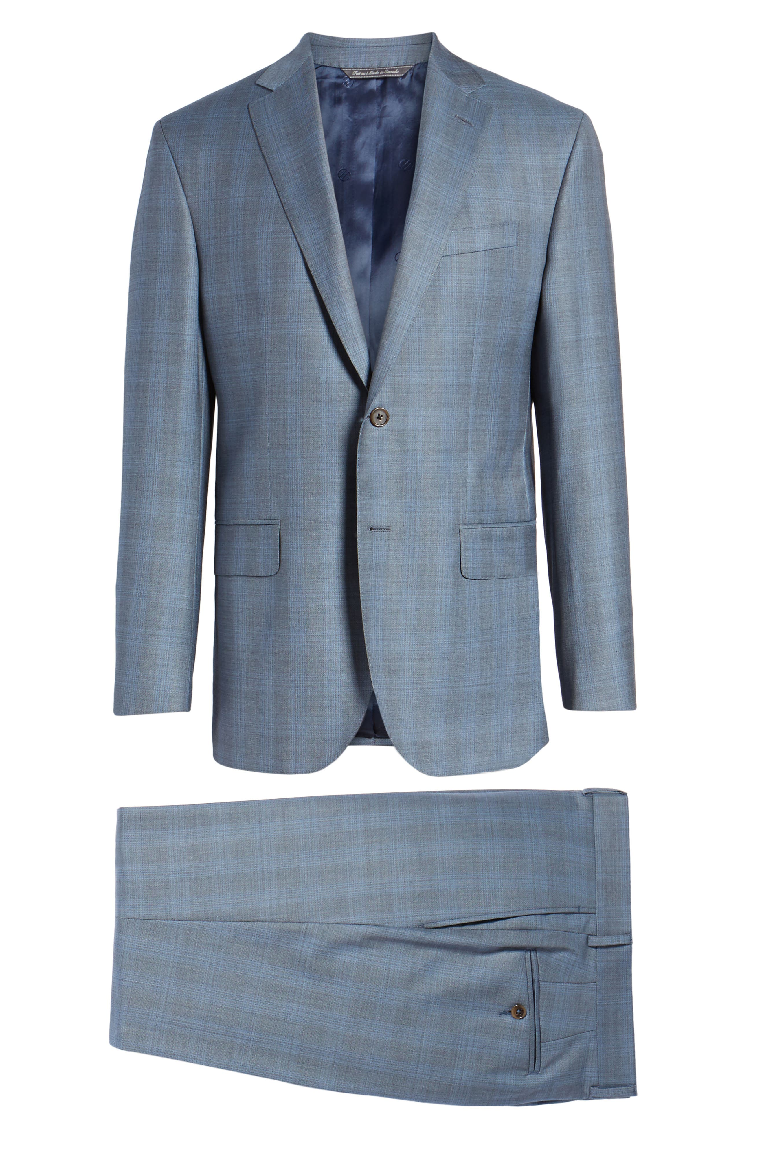 Ryan Classic Fit Plaid Wool Suit,                             Alternate thumbnail 8, color,                             Grey
