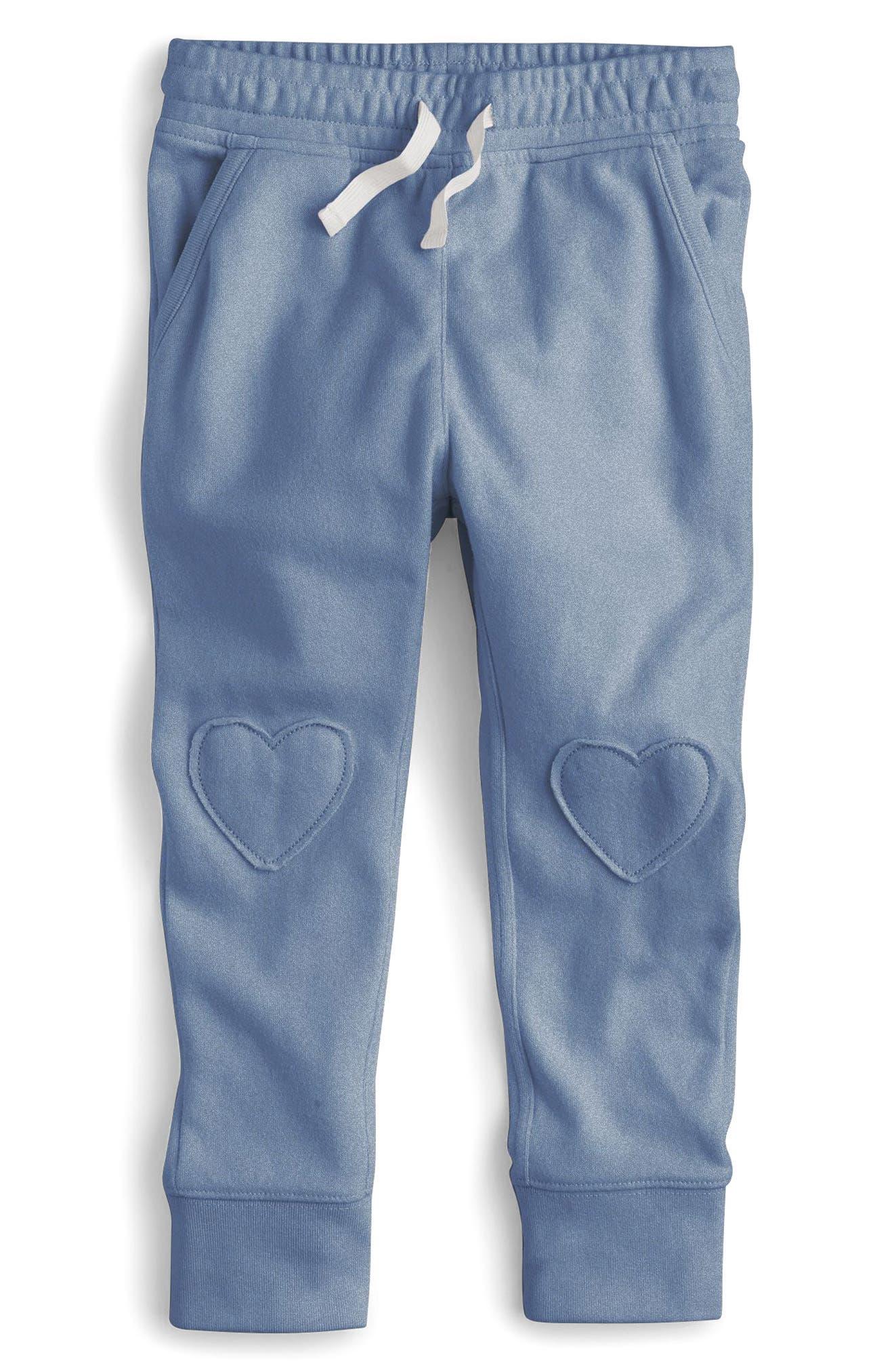 Heart Knee Sweatpants,                             Main thumbnail 1, color,                             Naples Blue