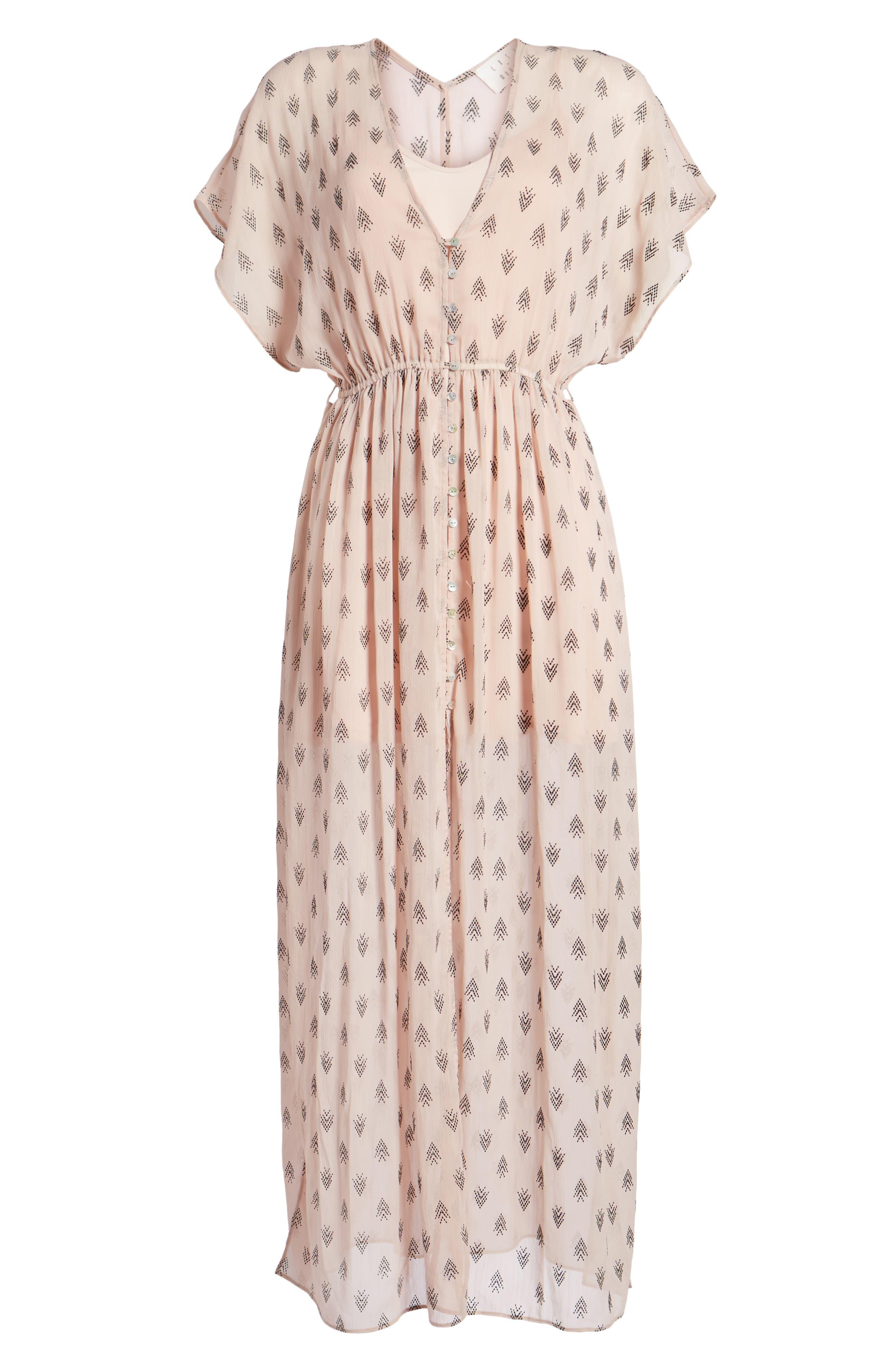 Brooke Slit Hem Dress,                             Alternate thumbnail 7, color,                             Blush