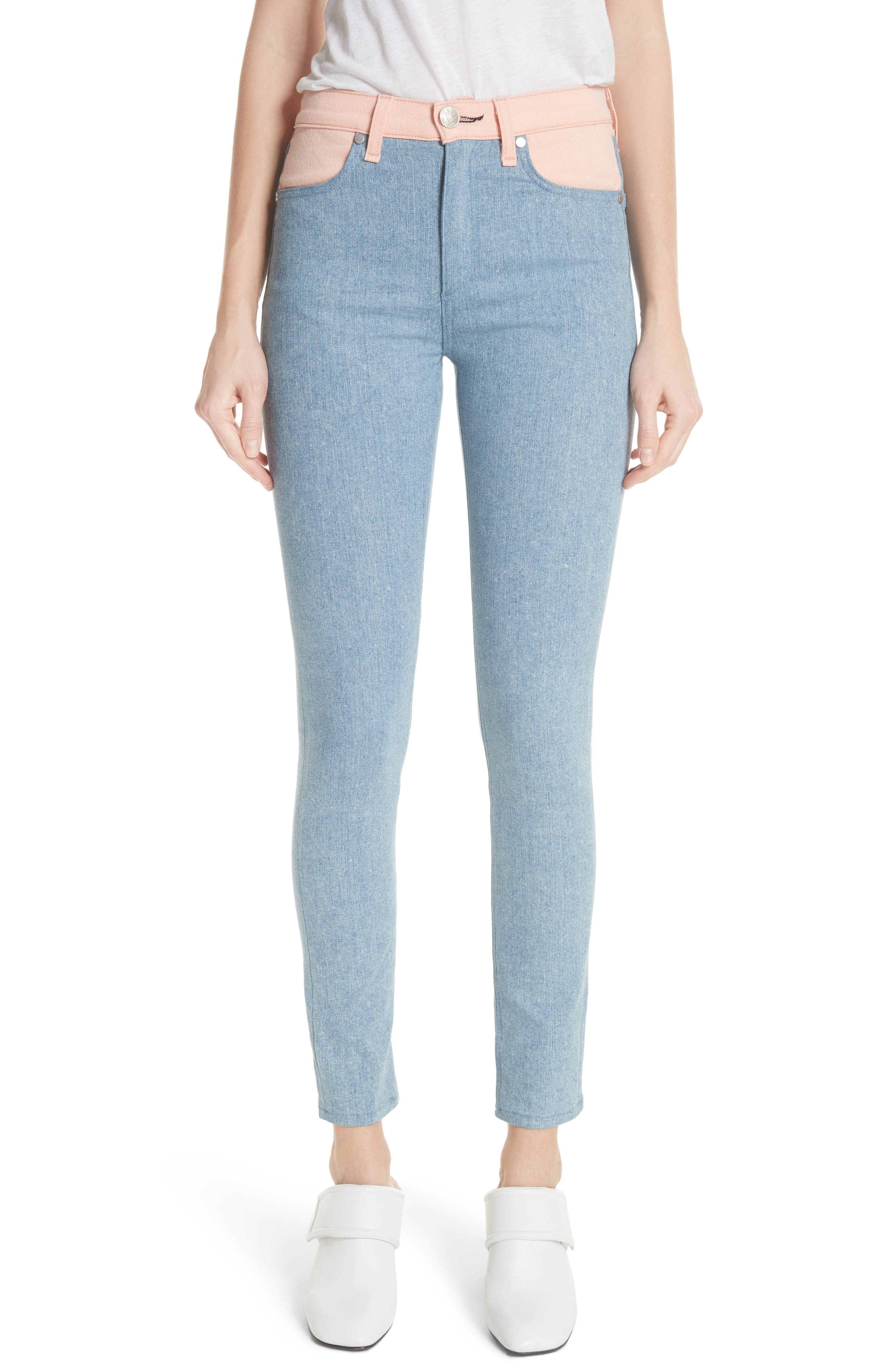 Phila Skinny Jeans,                             Main thumbnail 1, color,                             Nelly/ Prairie