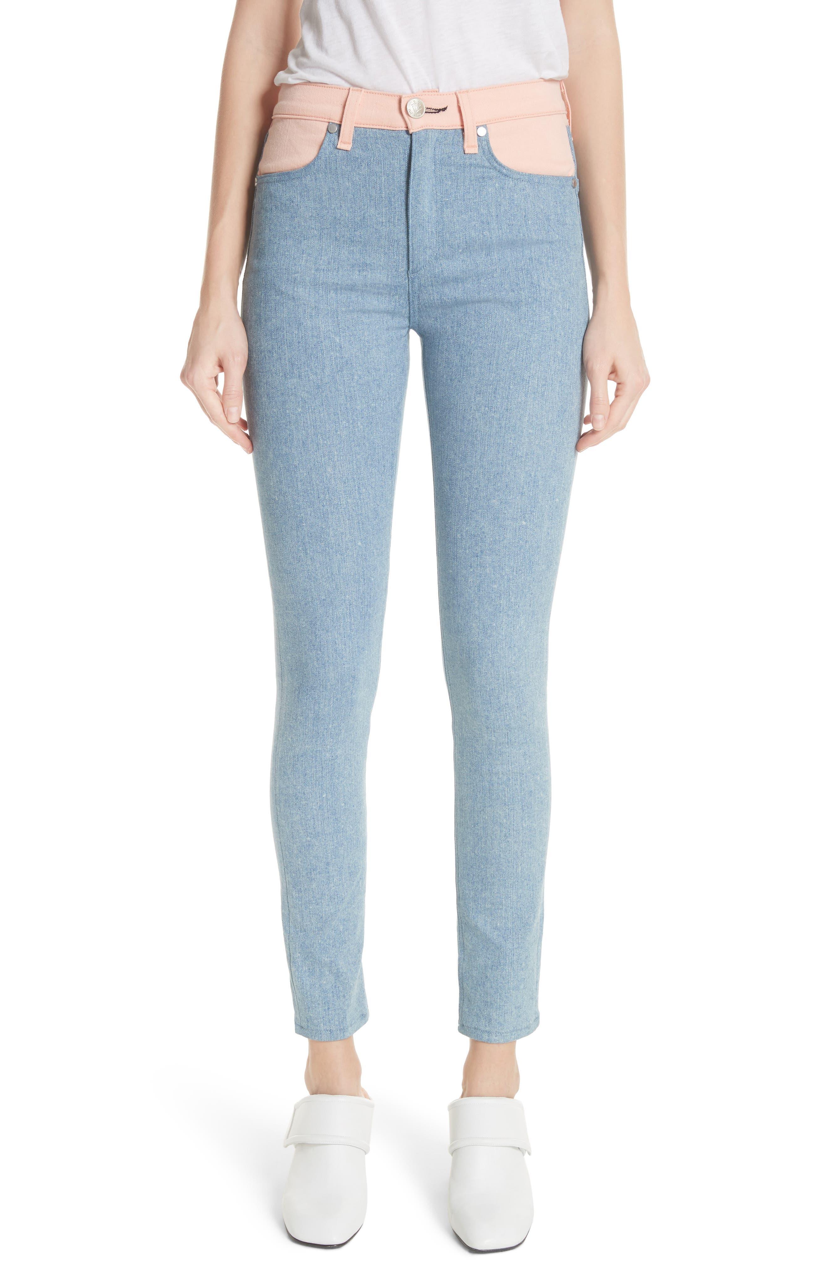 Phila Skinny Jeans,                         Main,                         color, Nelly/ Prairie
