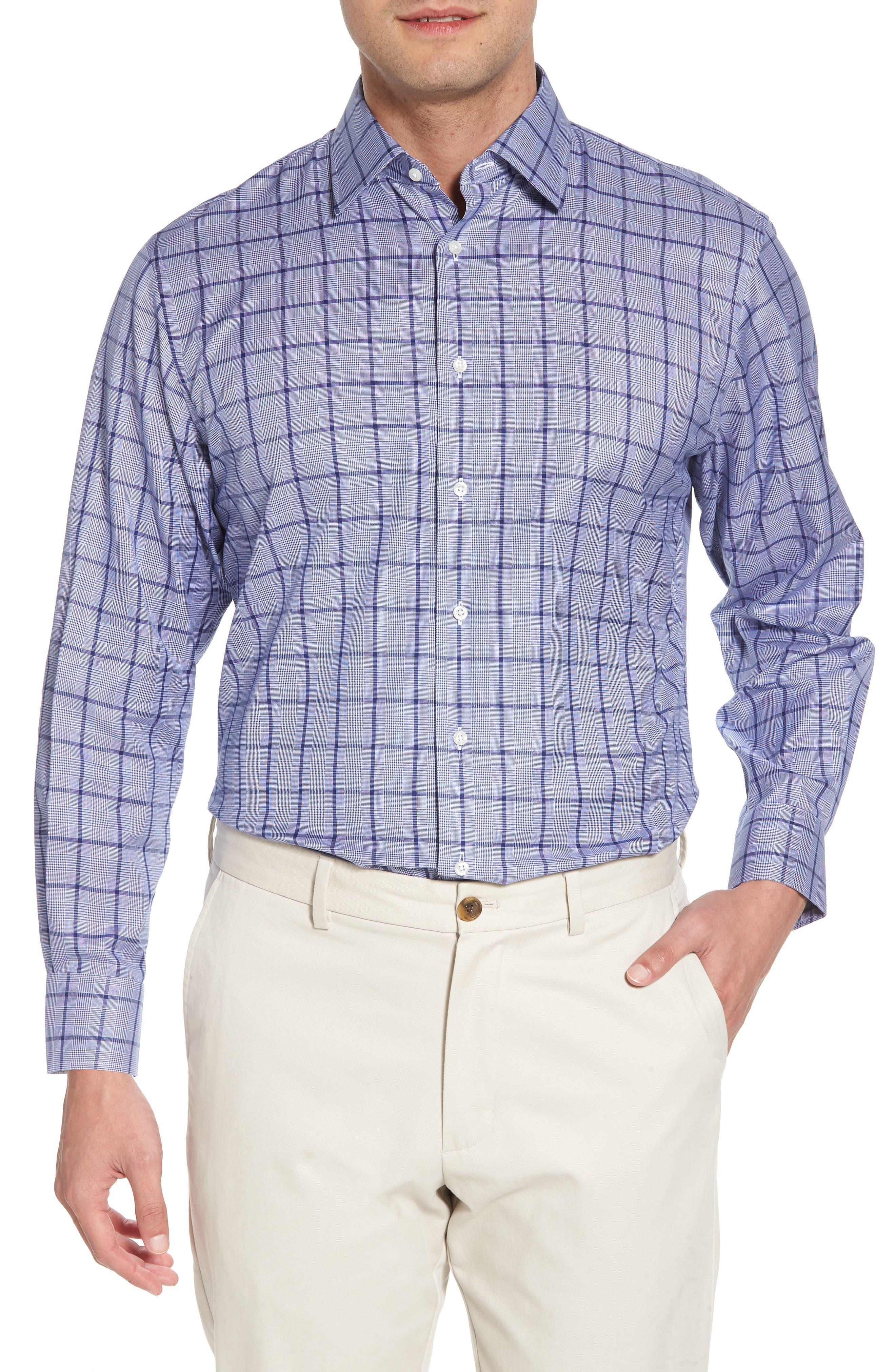 Main Image - Nordstrom Men's Shop Traditional Fit Check Dress Shirt