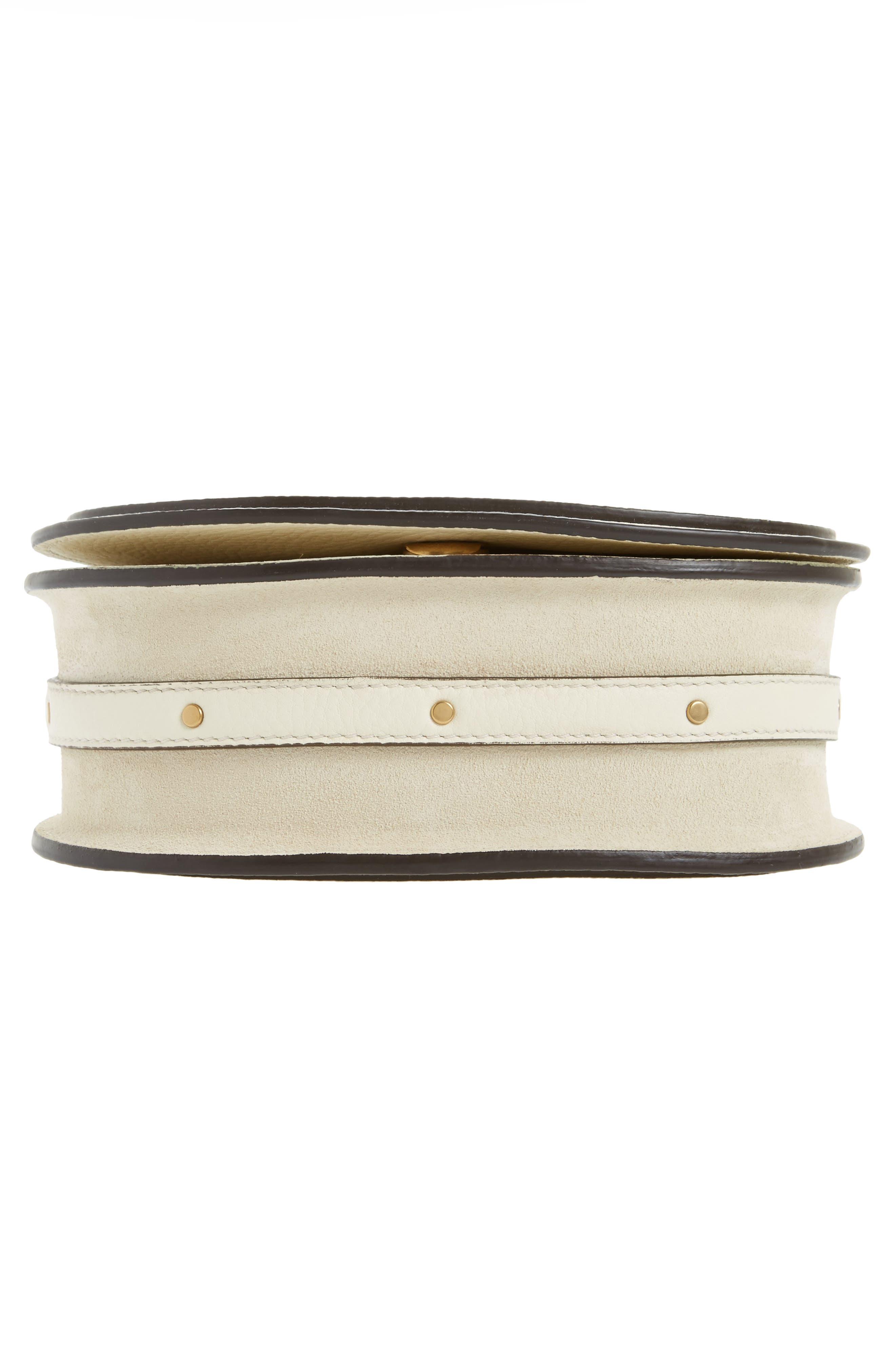 Small Nile Bracelet Leather Crossbody Bag,                             Alternate thumbnail 6, color,                             Off White