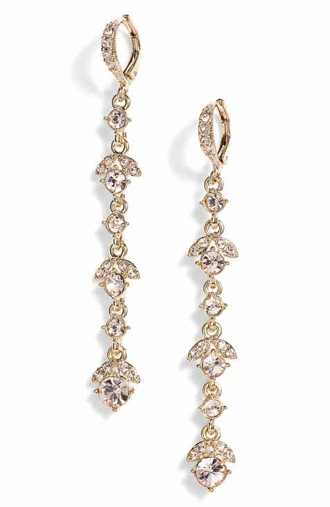 Givenchy Crystal Linear Drop Earrings 67a509fc9d1c