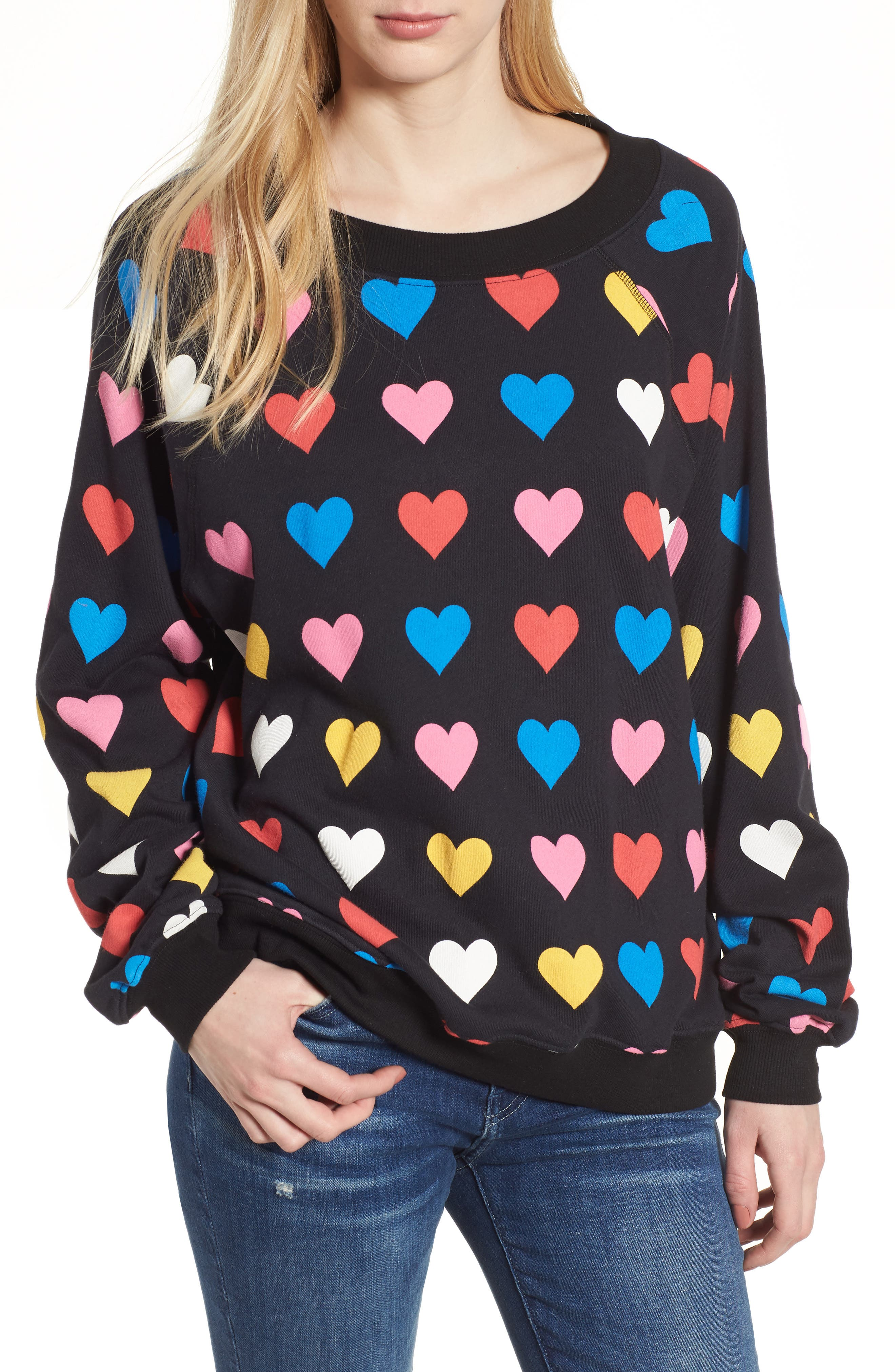 Have a Heart Sommers Sweatshirt,                             Main thumbnail 1, color,                             Black