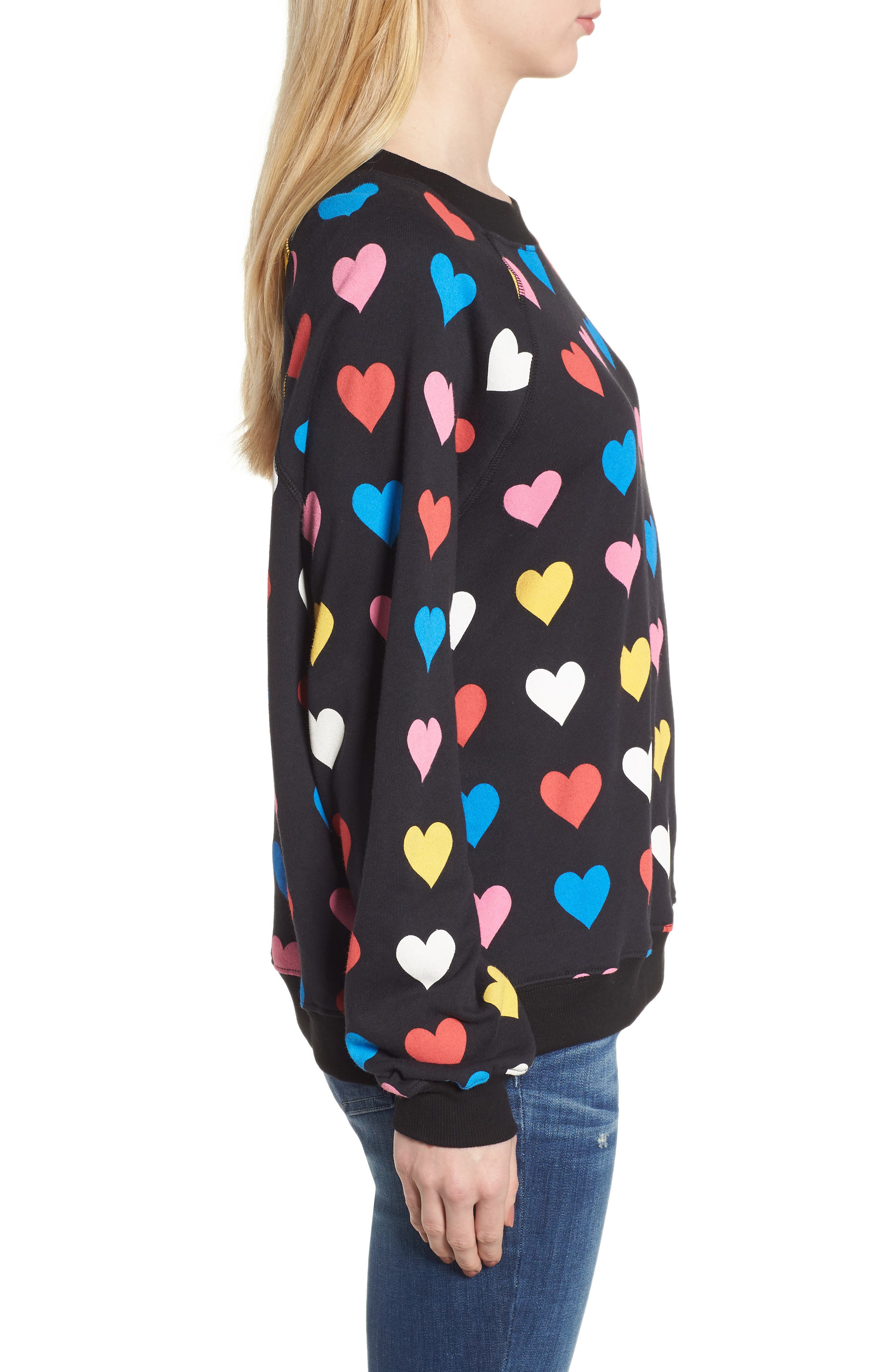 Have a Heart Sommers Sweatshirt,                             Alternate thumbnail 3, color,                             Black