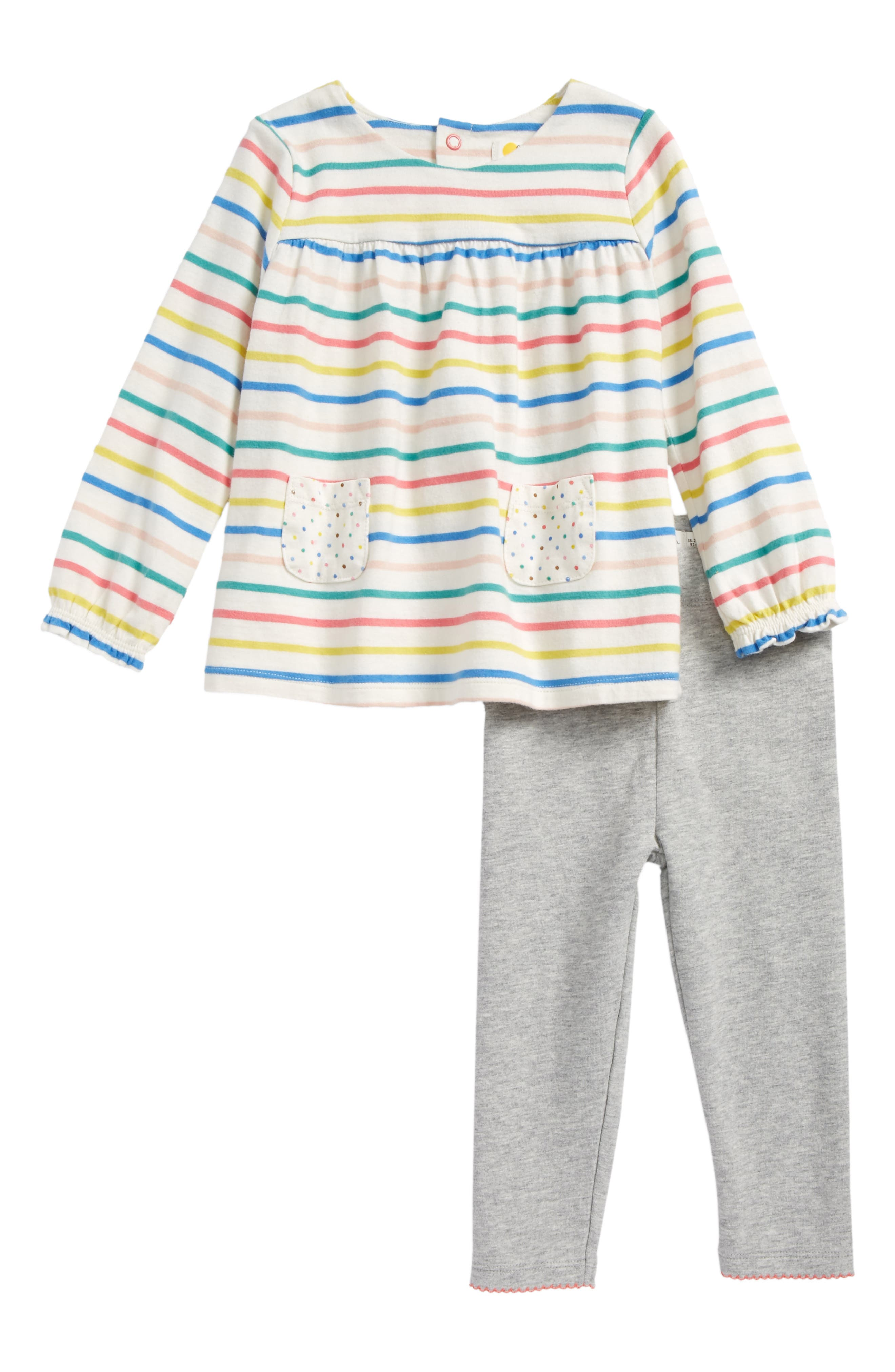 Print Jersey Tunic & Leggings Set,                         Main,                         color, Fun Stripe