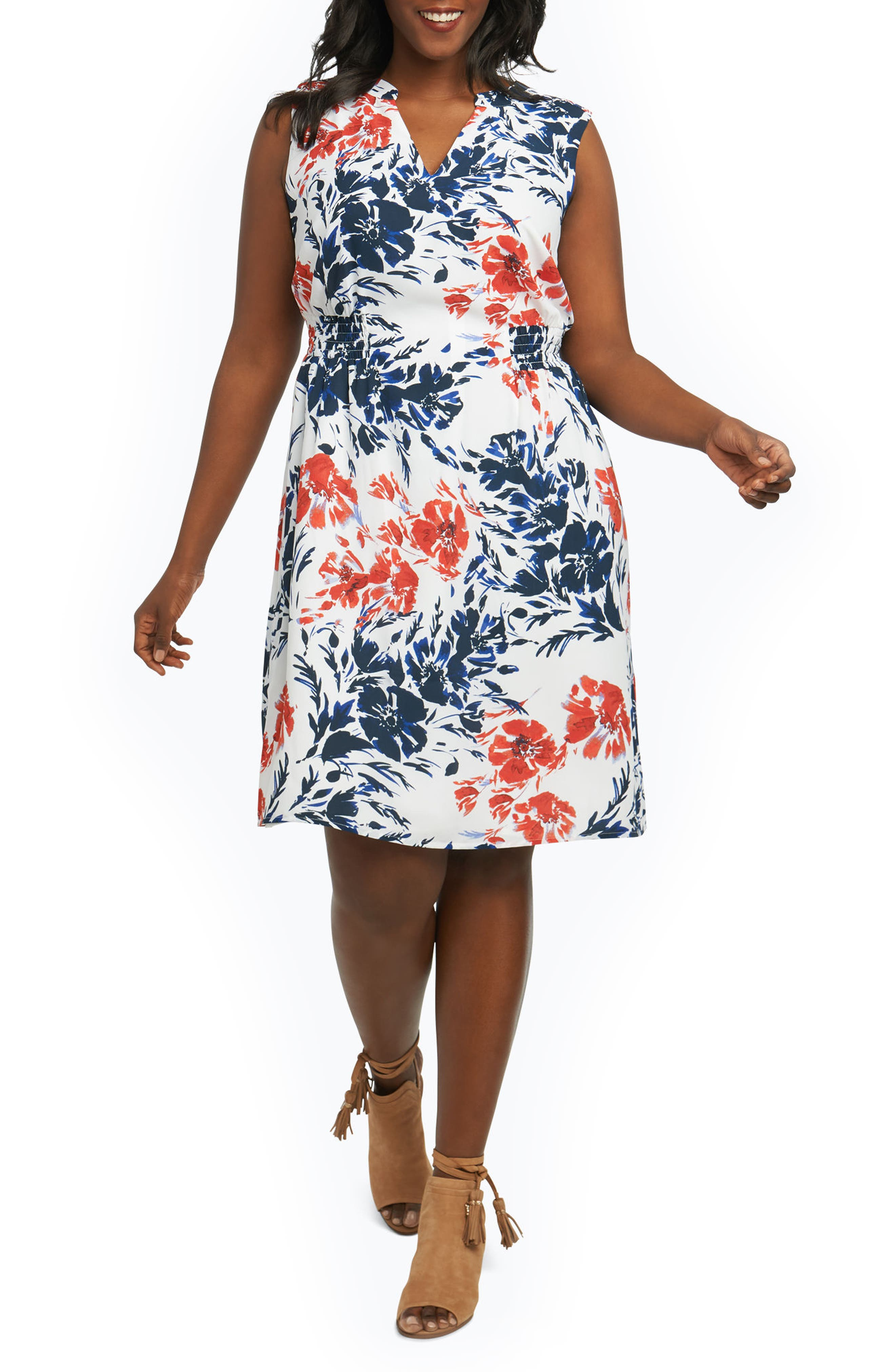 Foxcroft Jane Floral Sheath Dress (Plus Size)