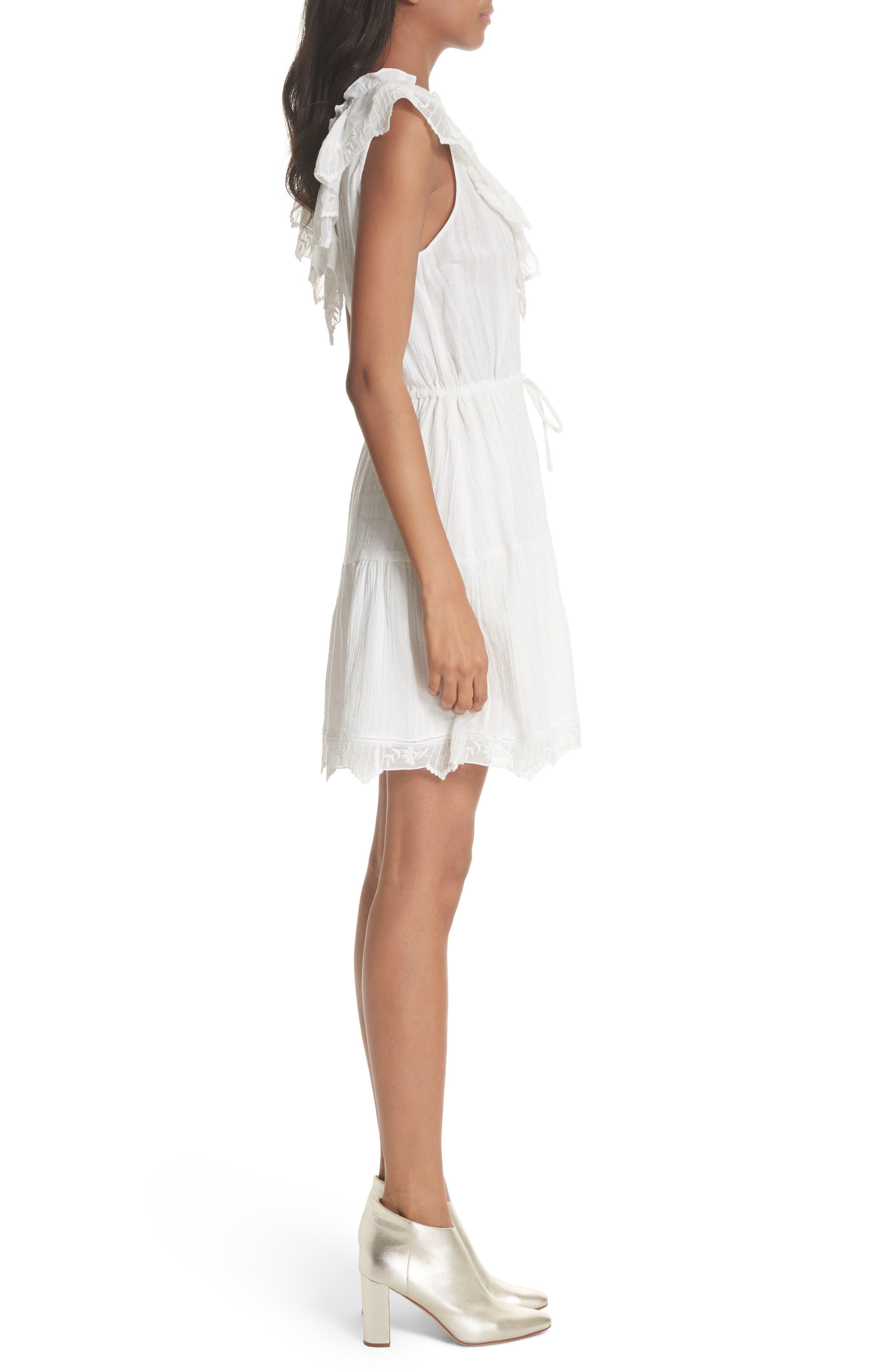 Mariana Ruffled Dress,                             Alternate thumbnail 3, color,                             Milk