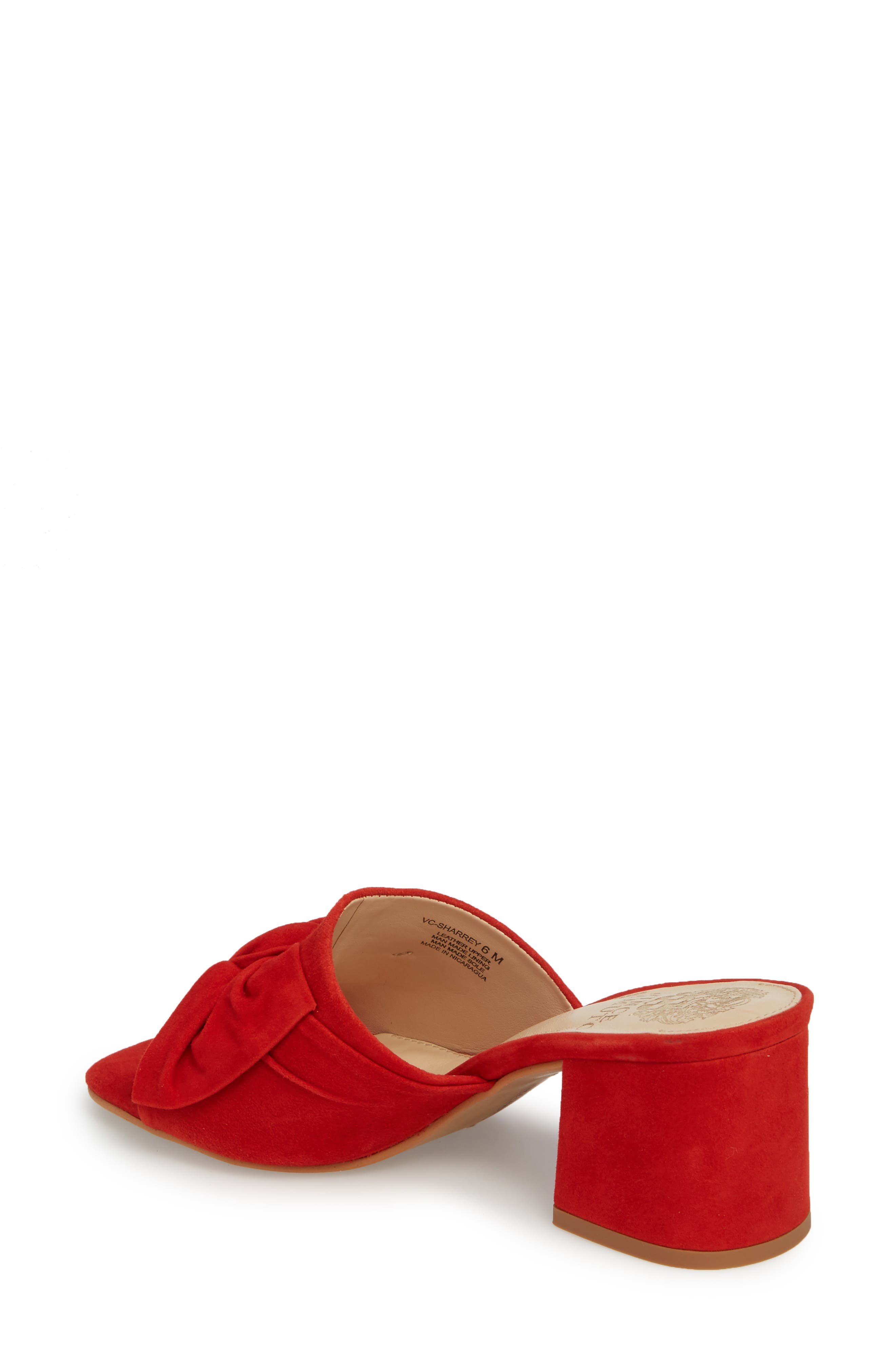 Sharrey Sandal,                             Alternate thumbnail 2, color,                             Red Hot Rio Suede
