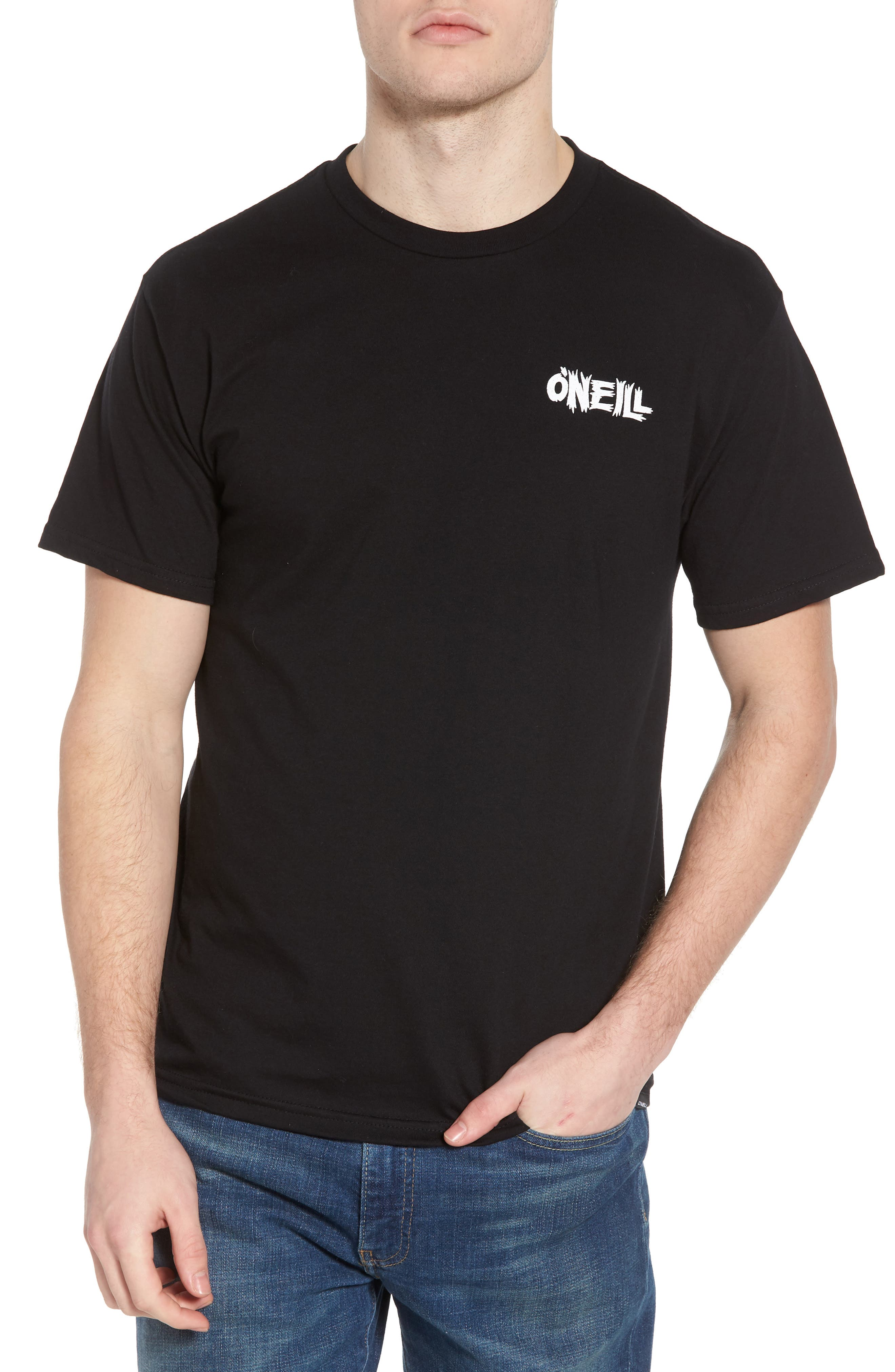 Enemy Graphic T-Shirt,                         Main,                         color, Black