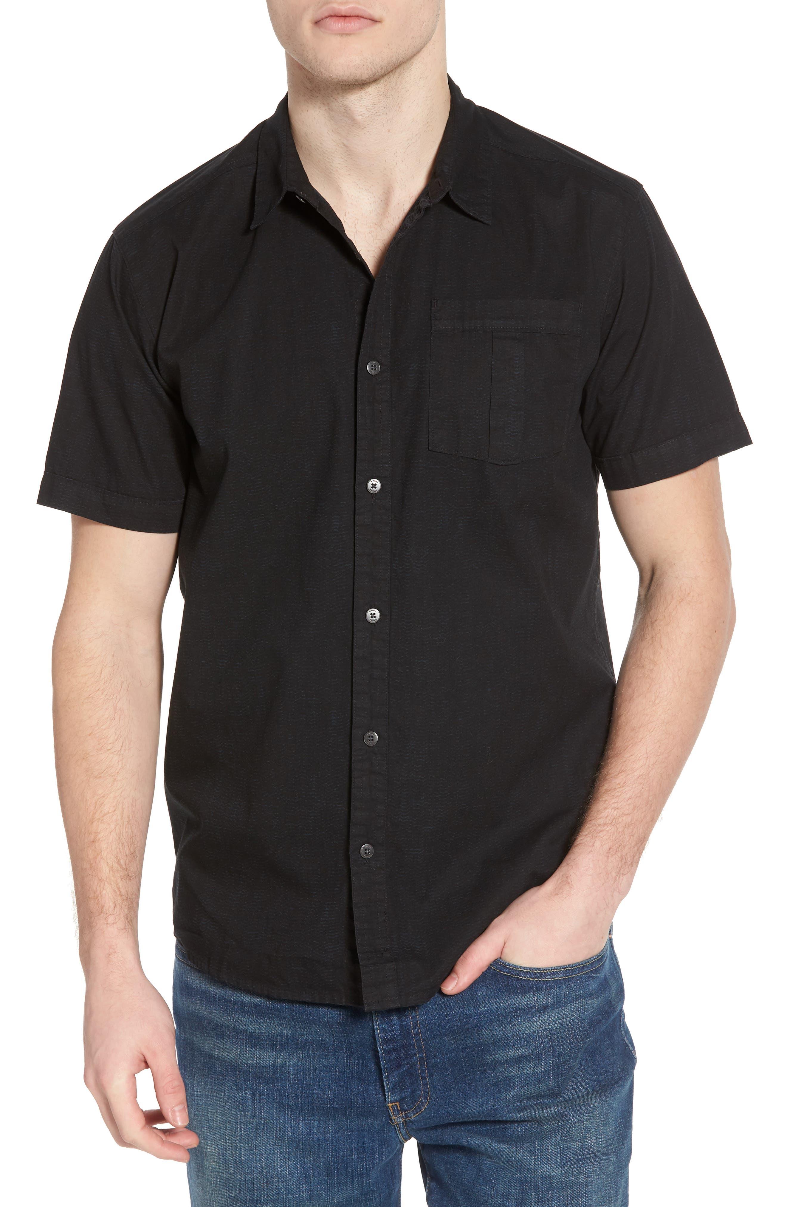 Untitled Woven Shirt,                             Main thumbnail 1, color,                             Black