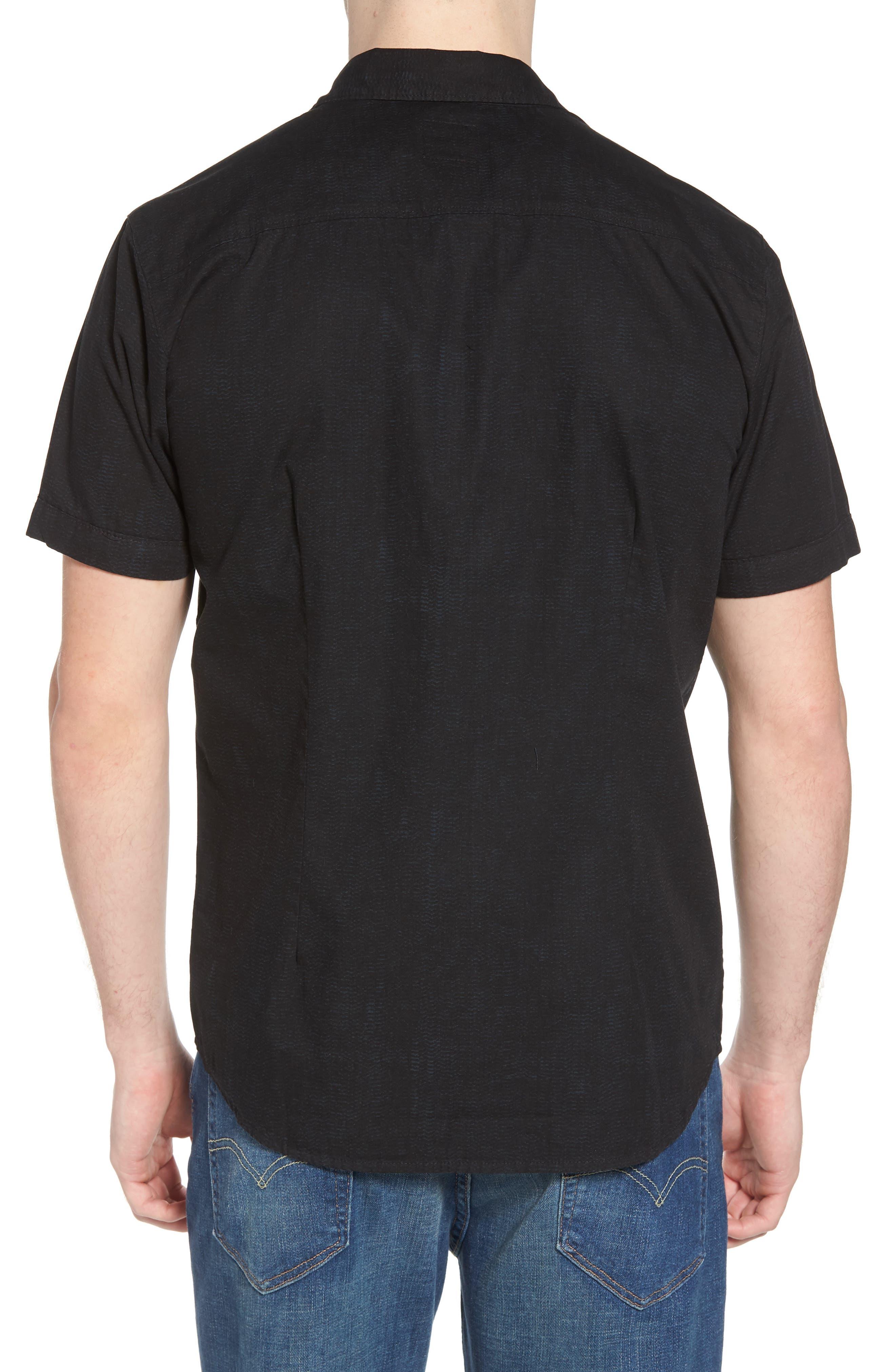 Untitled Woven Shirt,                             Alternate thumbnail 3, color,                             Black