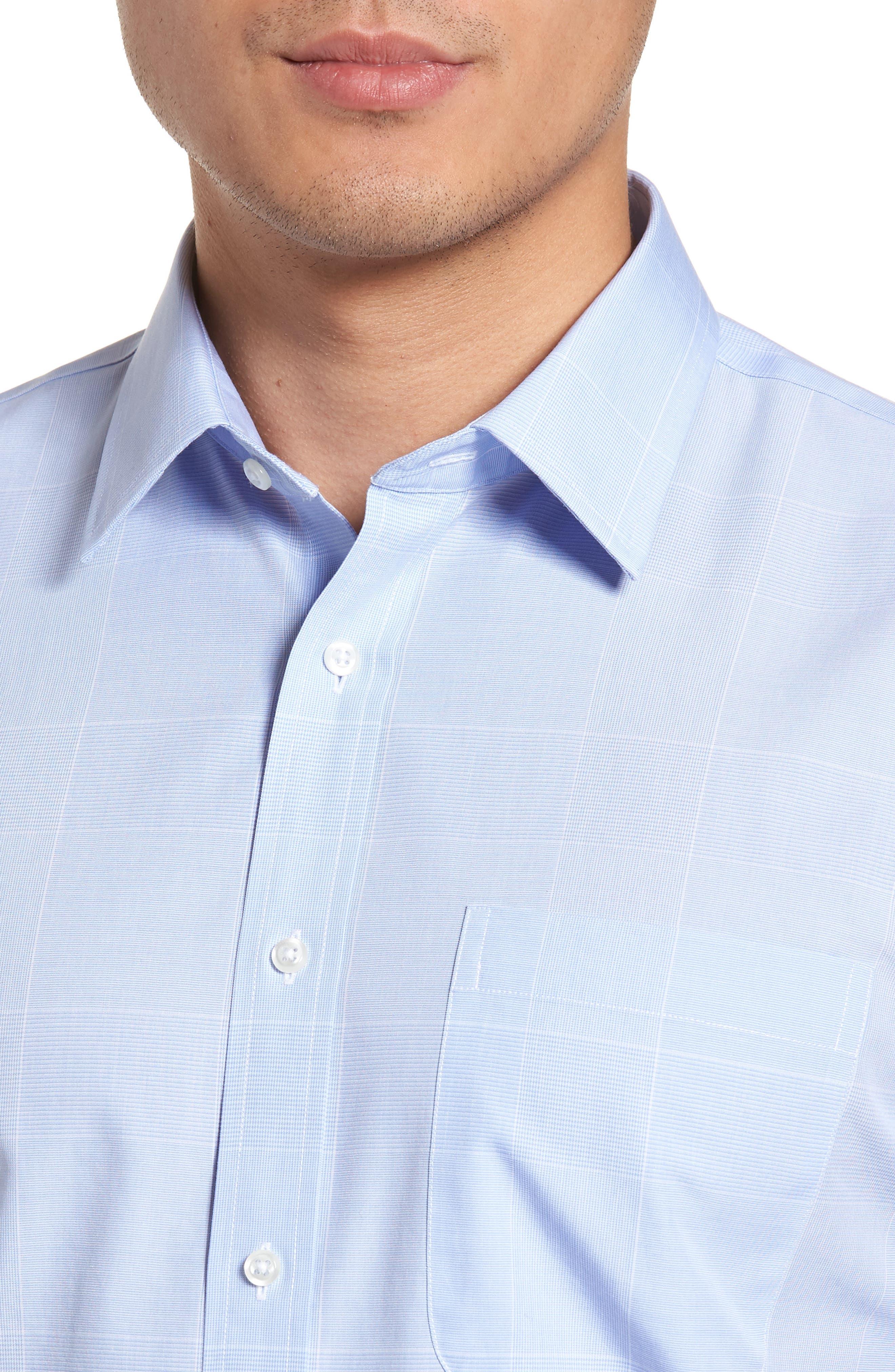 Smartcare<sup>™</sup> Trim Fit Plaid Dress Shirt,                             Alternate thumbnail 2, color,                             Blue Hydrangea