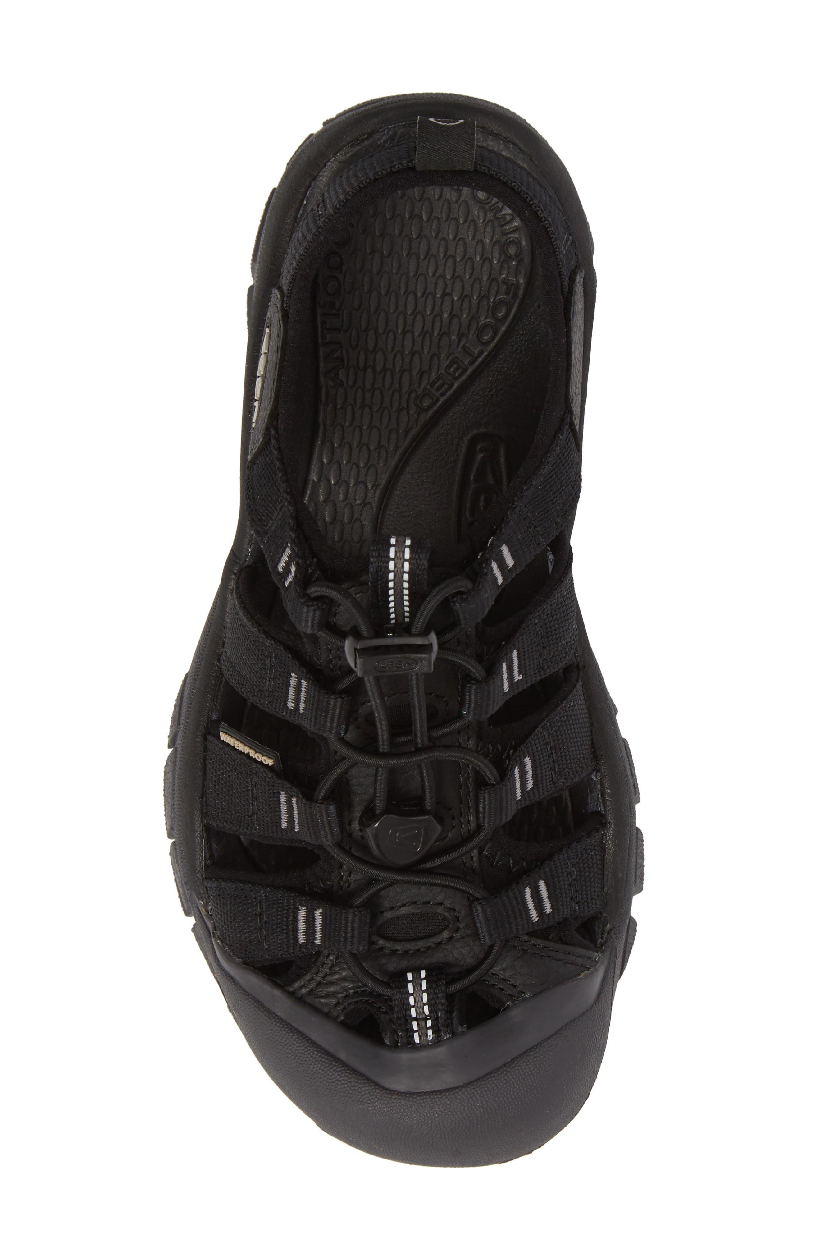 Newport Eco Waterproof Sandal,                             Alternate thumbnail 5, color,                             Black/ Magnet