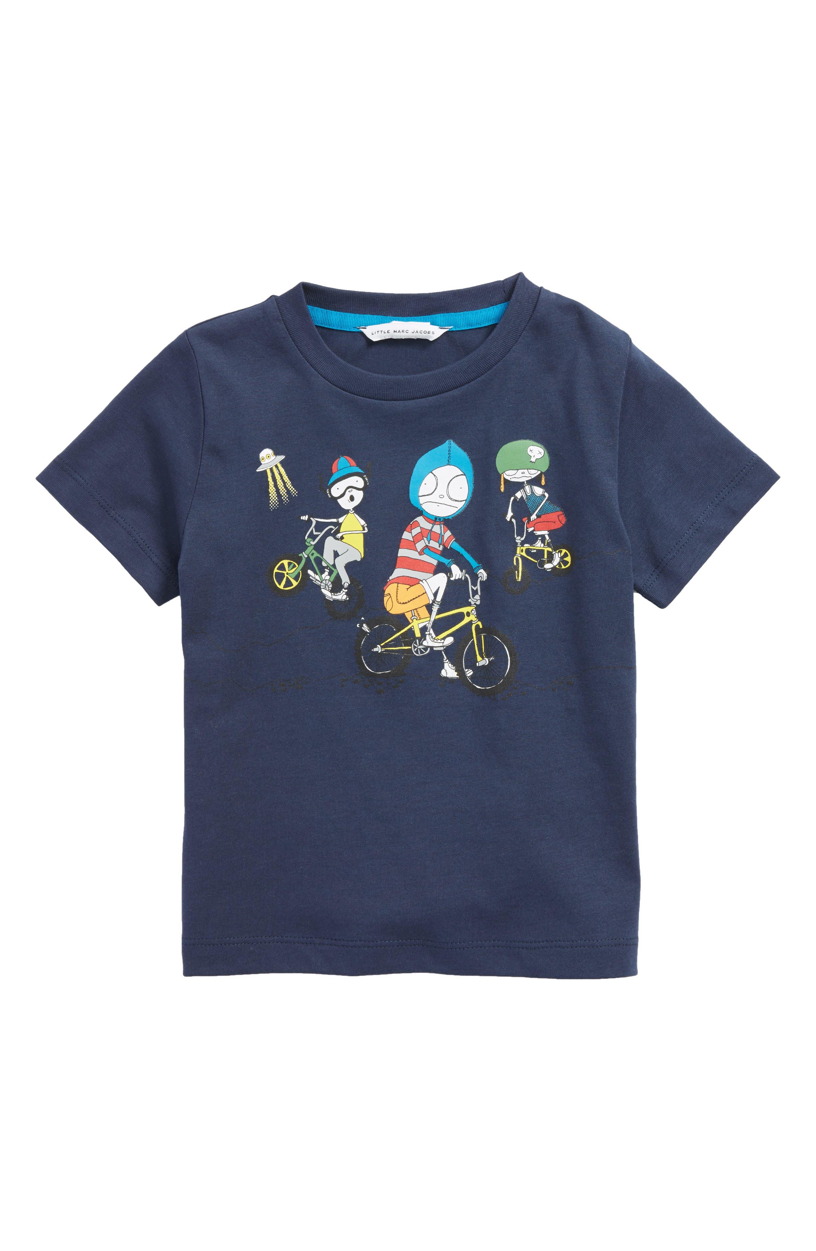 LITTLE MARC JACOBS Mister Marc T-Shirt (Toddler Boys, Little Boys & Big Boys)