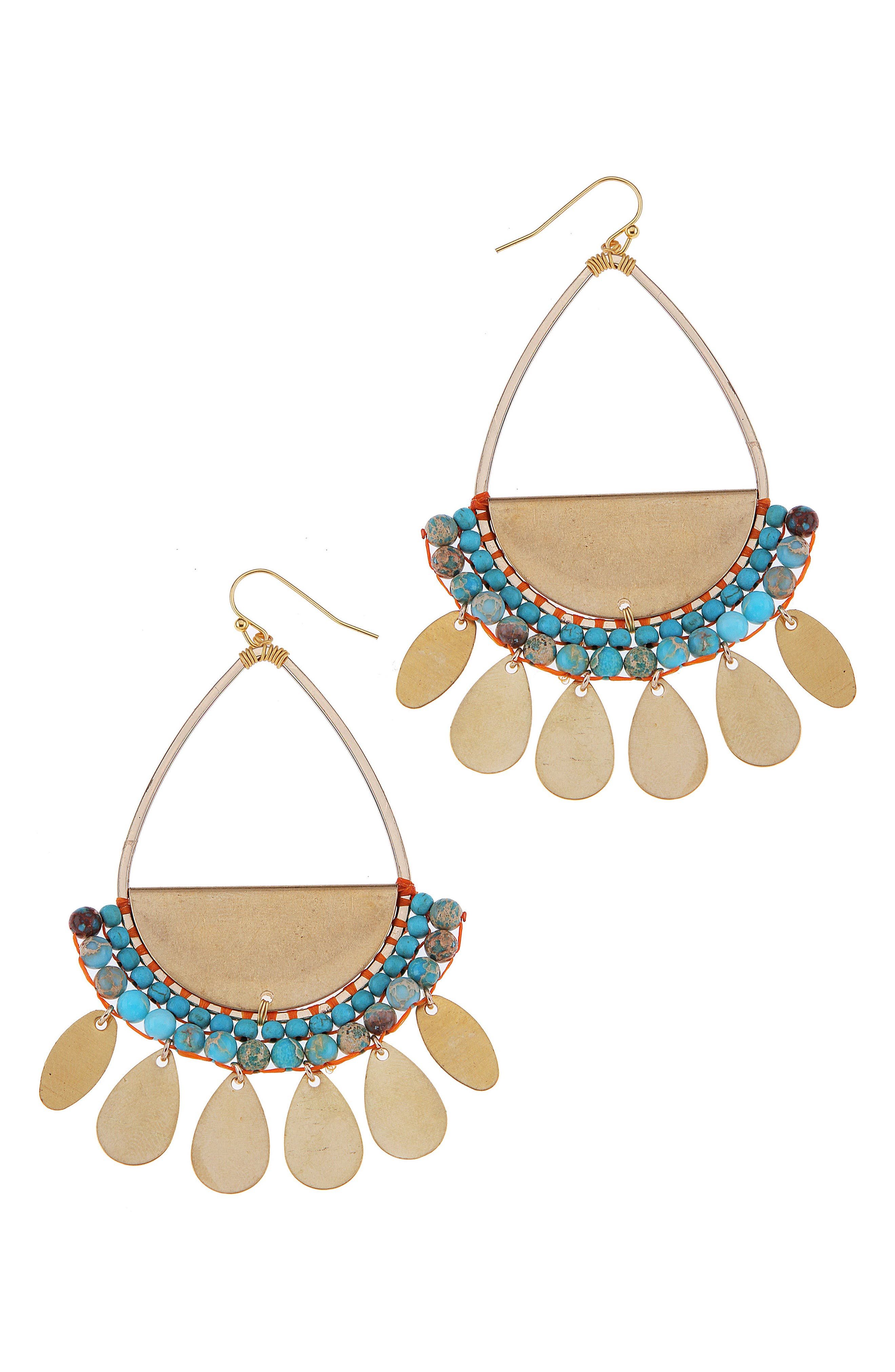 Nakamol Design Stone Palette Drop Earrings