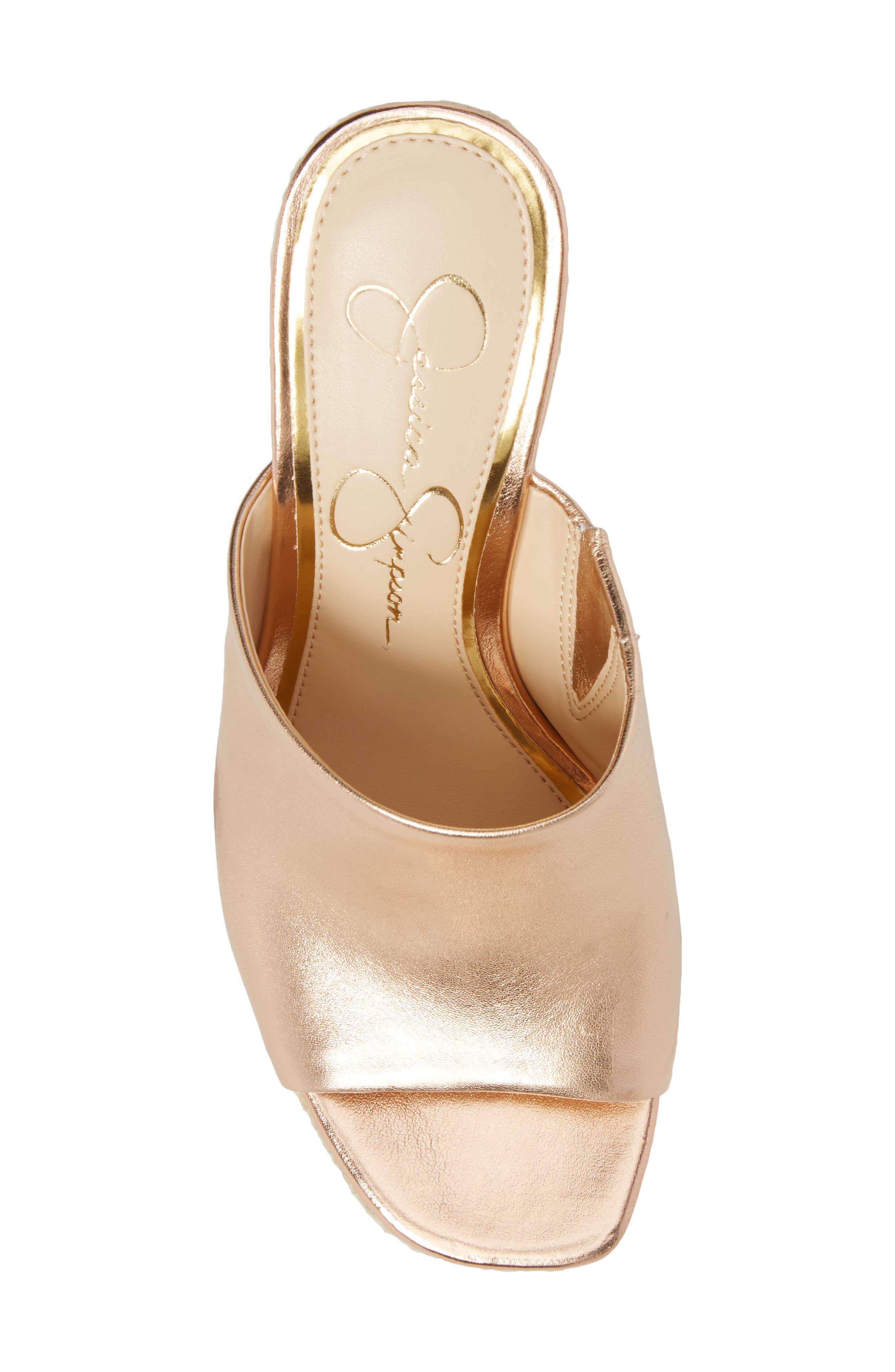 Sirella Platform Wedge Slide Sandal,                             Alternate thumbnail 5, color,                             Pale Rose Go