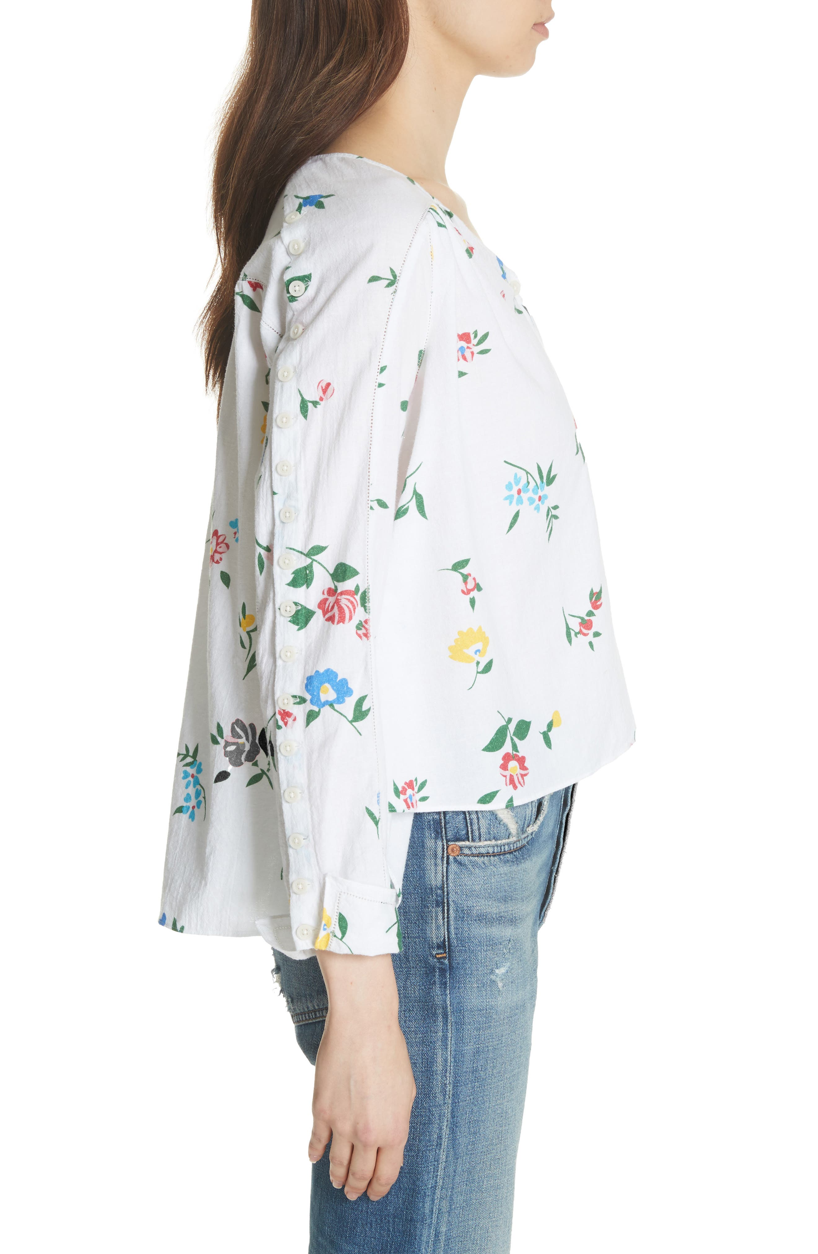 The Boutonniere Top,                             Alternate thumbnail 4, color,                             Western Wallflower Print