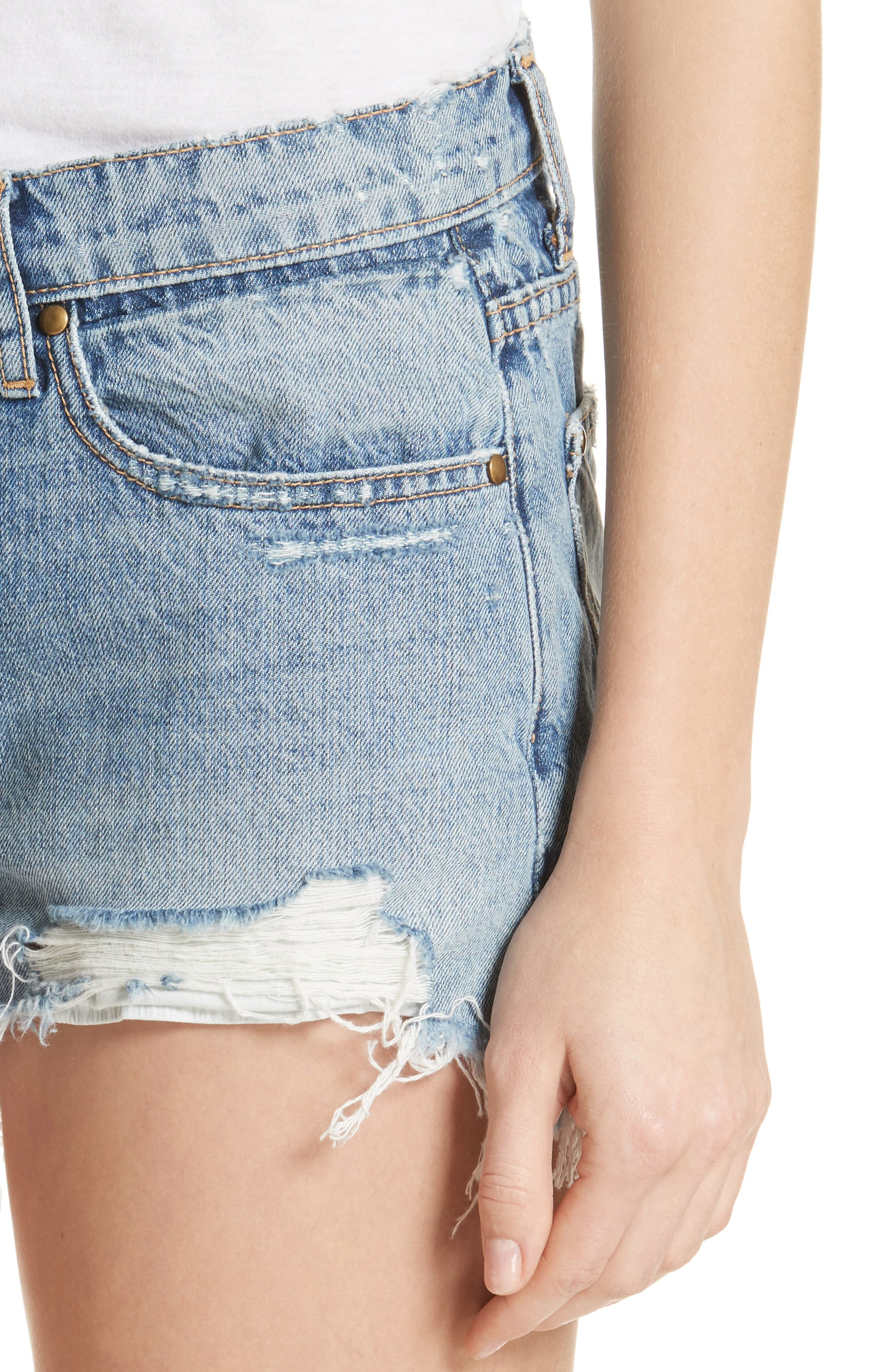 The Destroy Cutoff Denim Shorts,                             Alternate thumbnail 5, color,                             Canteen Wash