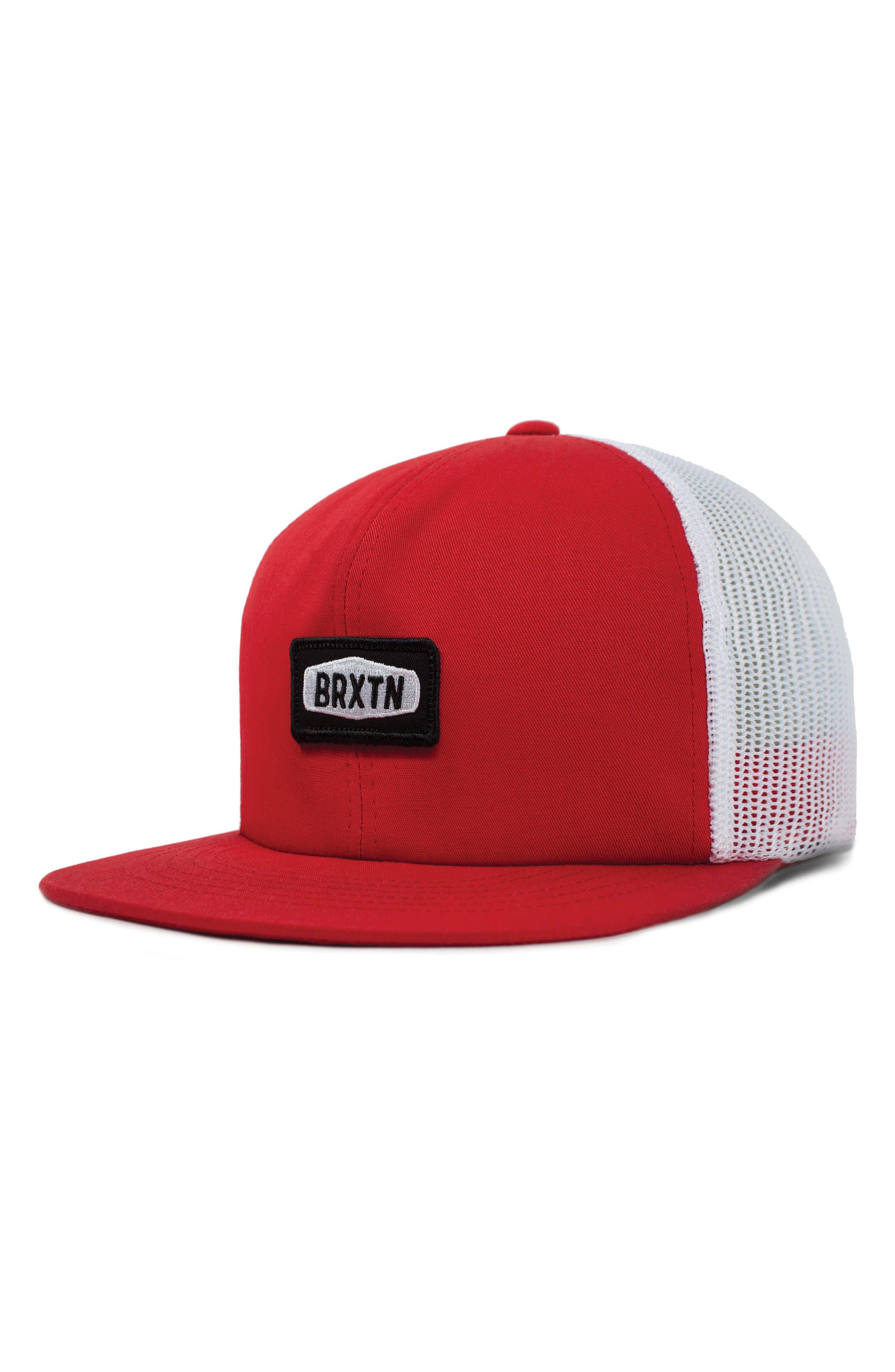 Rockford Mesh Back Cap,                         Main,                         color, Red/ White