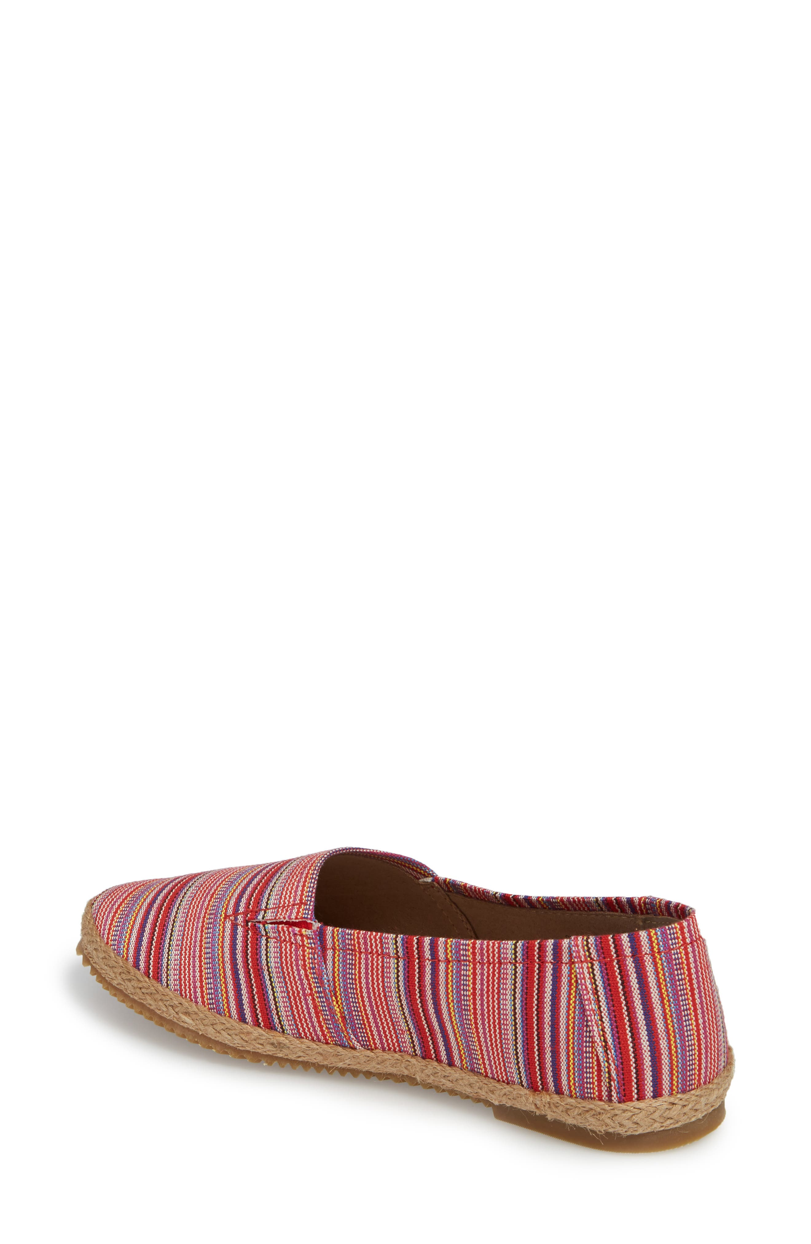 Kylie Slip-On,                             Alternate thumbnail 2, color,                             Pink Stripe Fabric