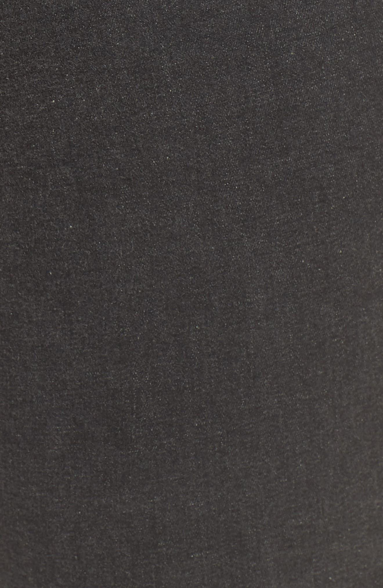 Metallic Knee Patch Denim Skimmer Leggings,                             Alternate thumbnail 5, color,                             Graphite Wash