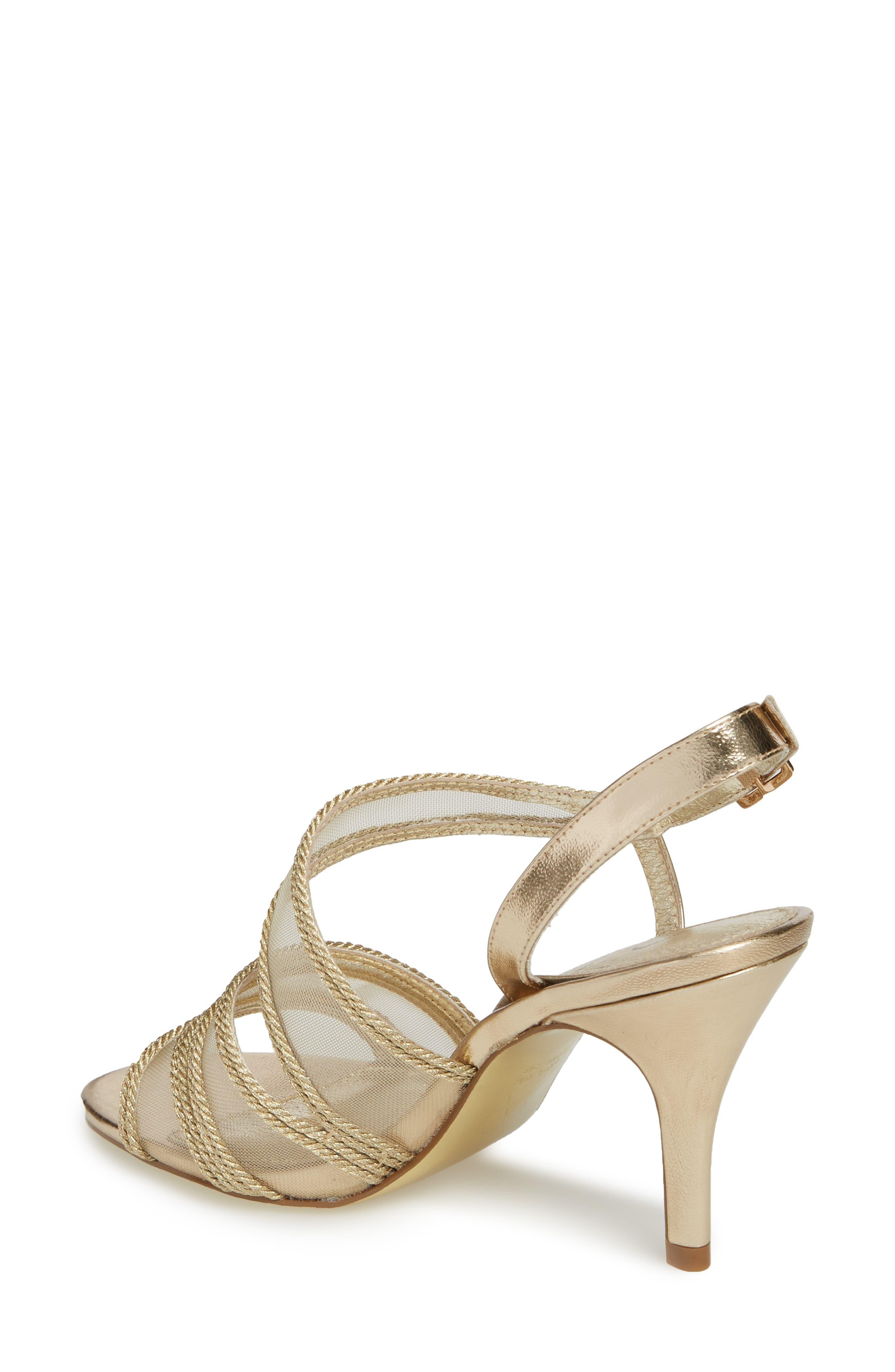 Adelphi Asymmetrical Mesh Sandal,                             Alternate thumbnail 2, color,                             Platinum Fabric