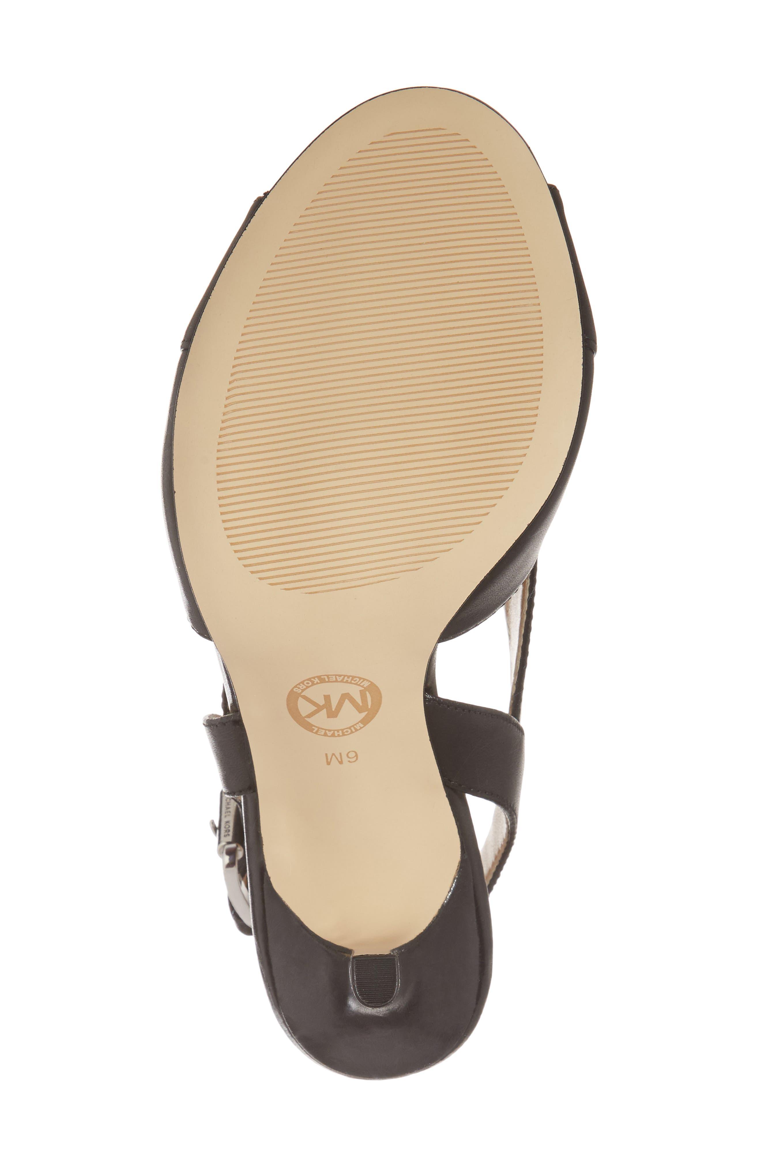 Becky Slingback Sandal,                             Alternate thumbnail 6, color,                             Black Leather