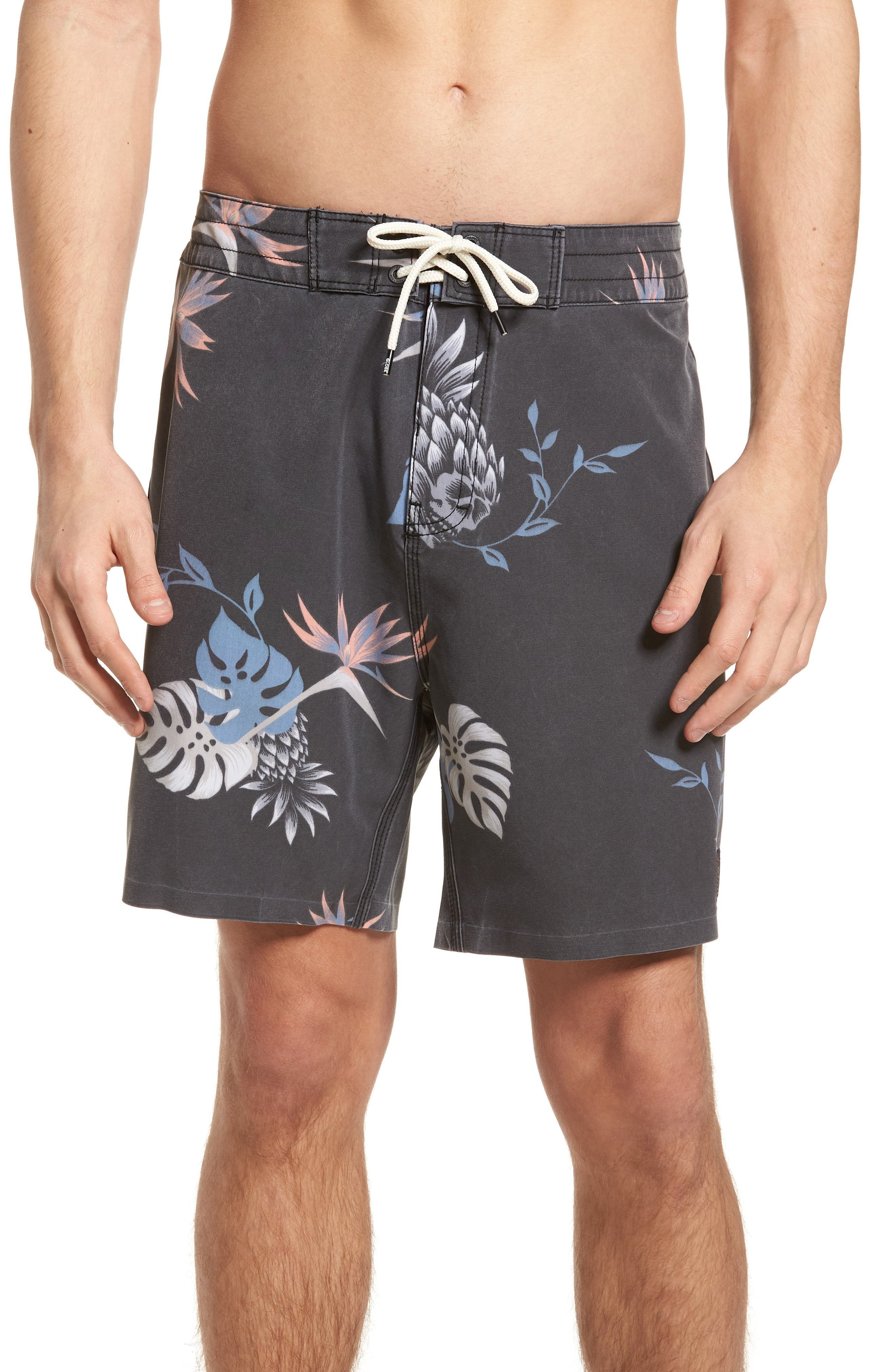 Shangri-La 3.0 Board Shorts,                             Main thumbnail 1, color,                             Granite