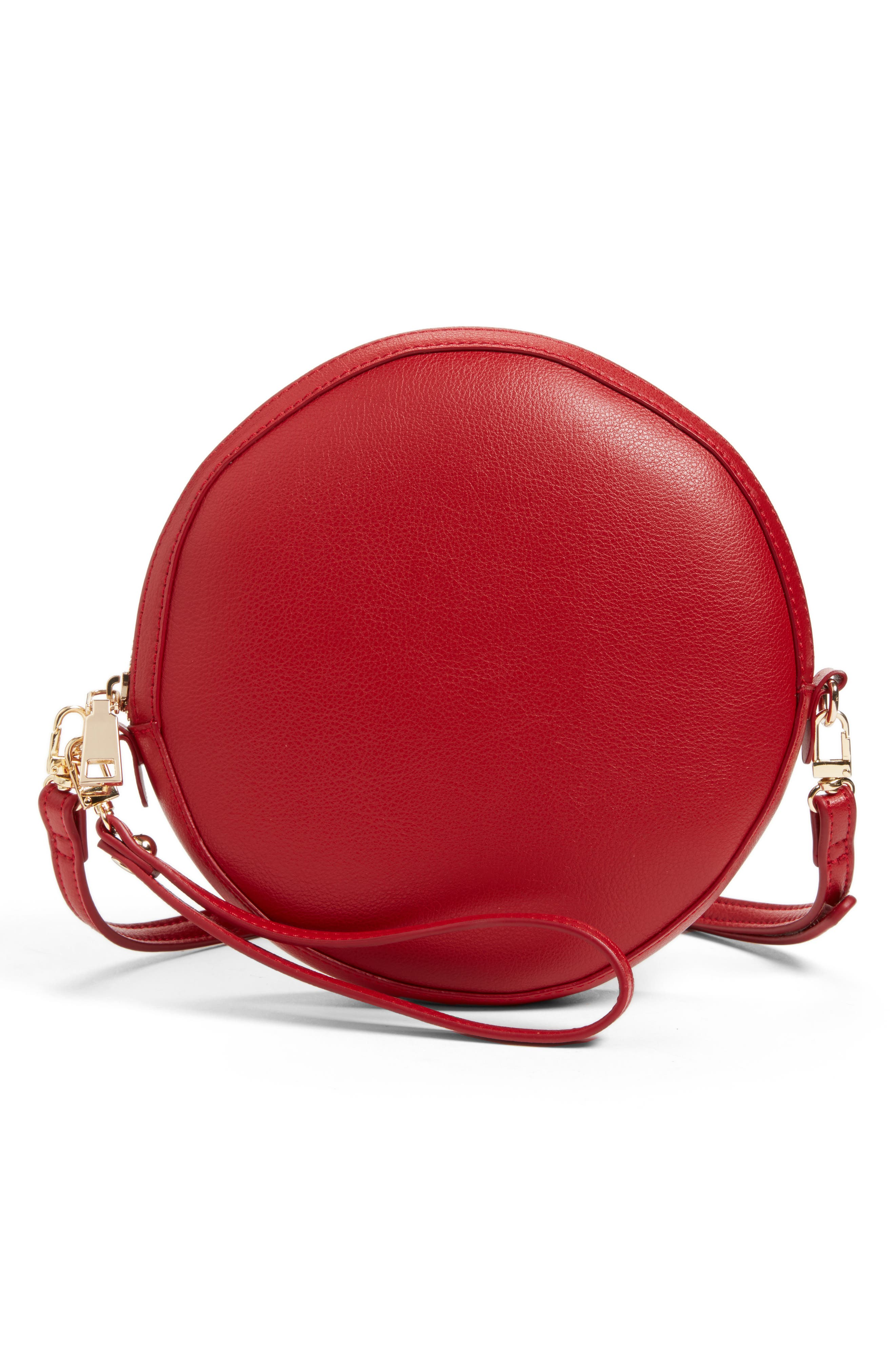 Smooth Circle Crossbody,                         Main,                         color, Cherry Red