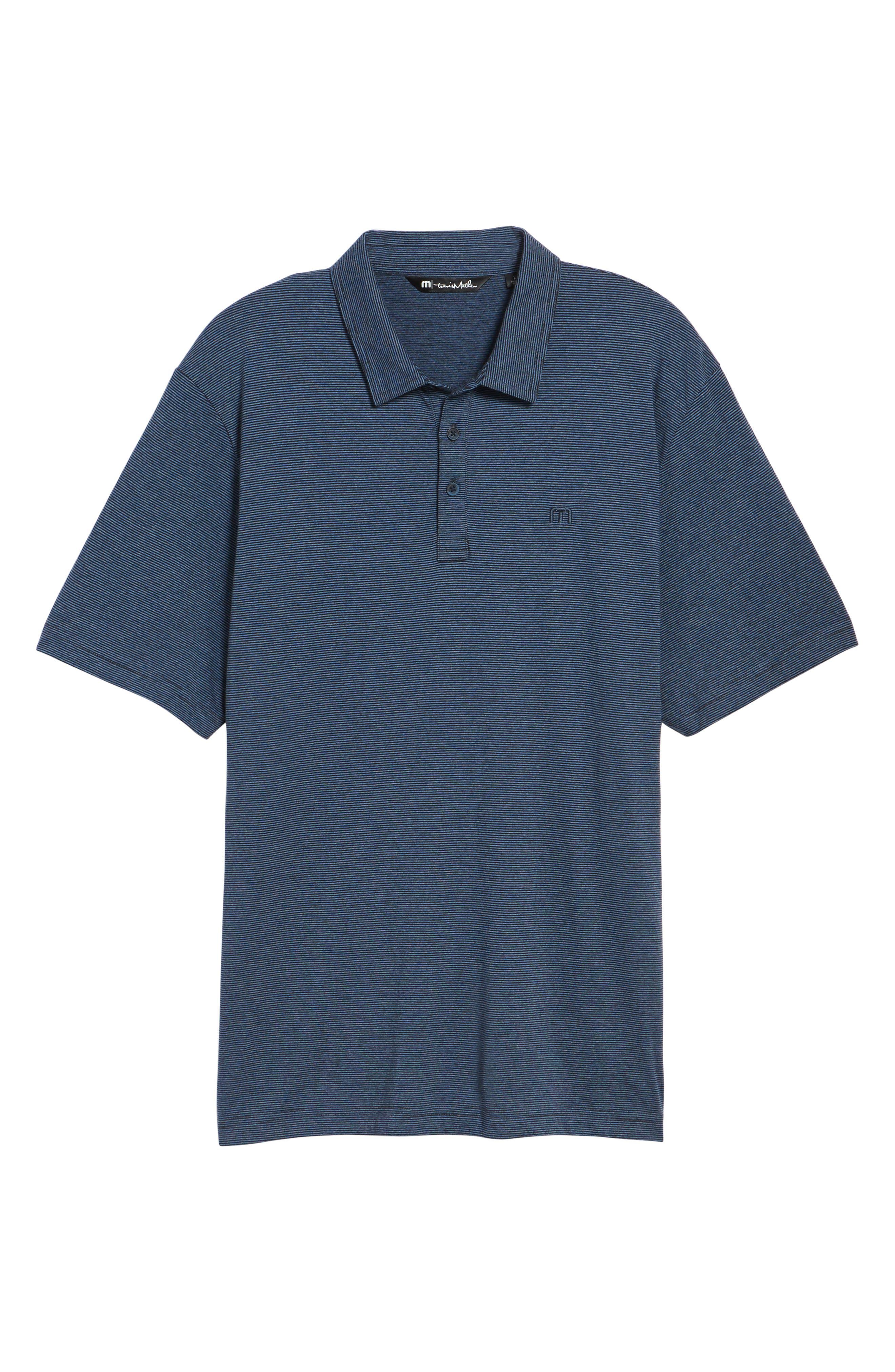 JQ Regular Fit Stripe Polo,                             Alternate thumbnail 6, color,                             Heather Blue Nights