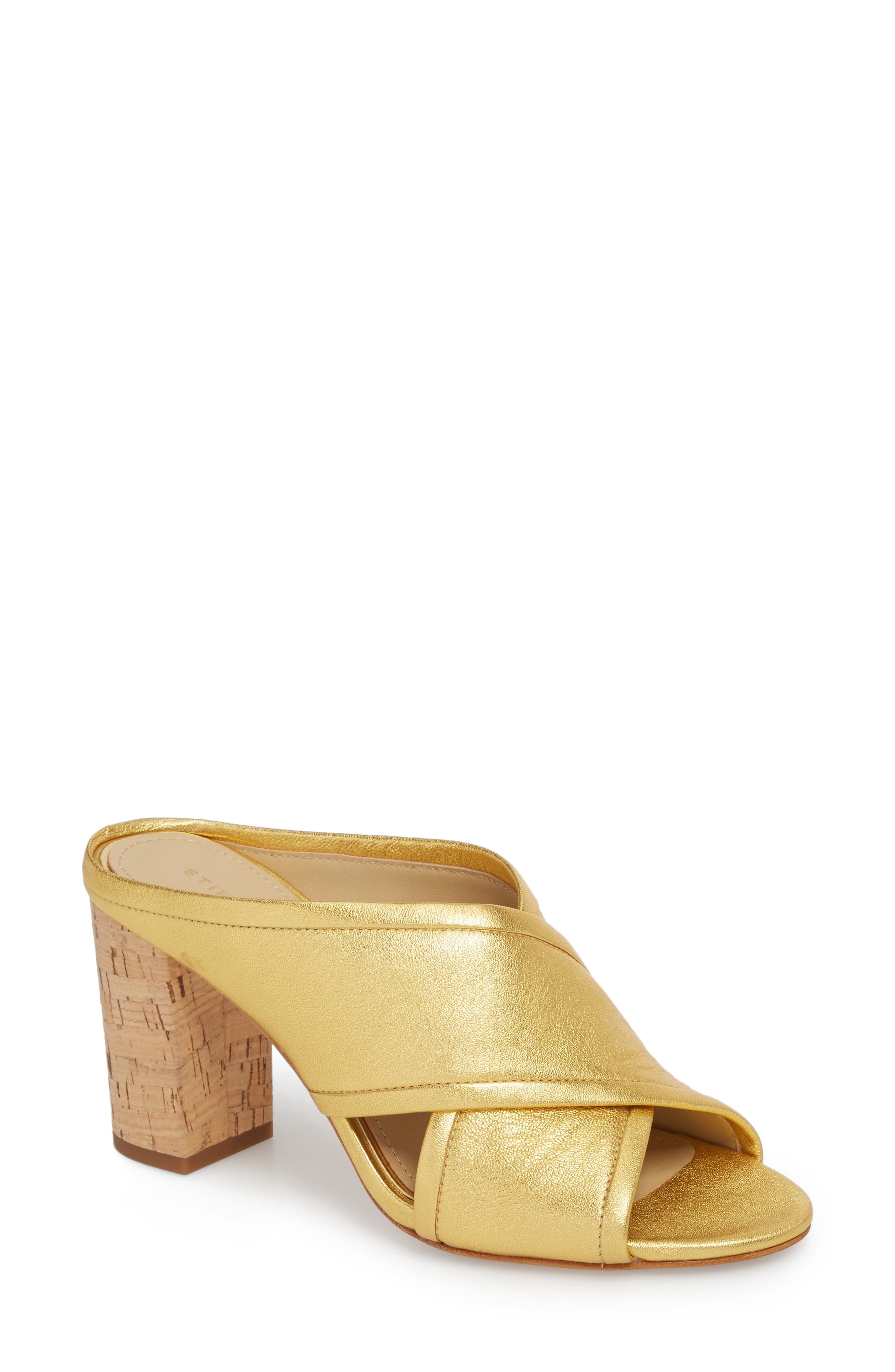 Lido Sandal,                         Main,                         color, Gold Leather