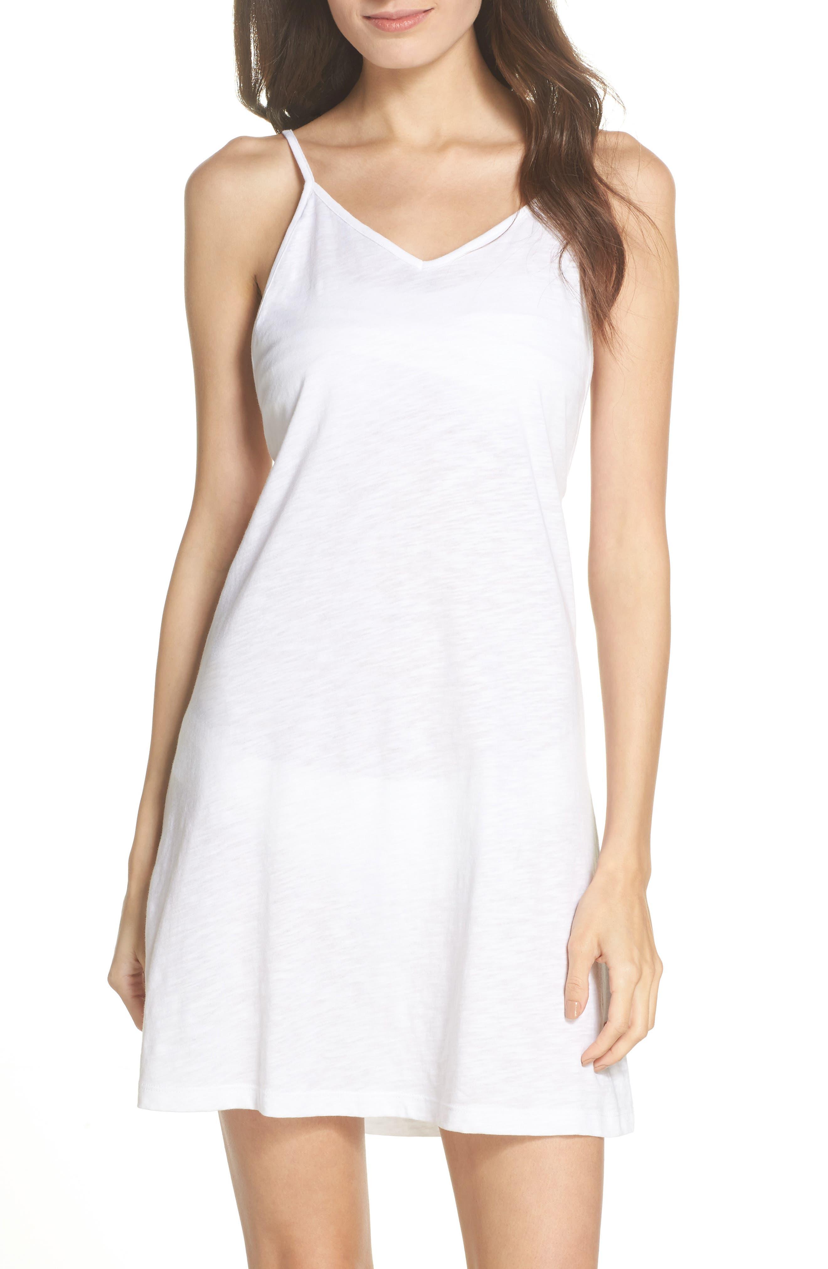 PomPom Cover-Up Dress,                         Main,                         color, White