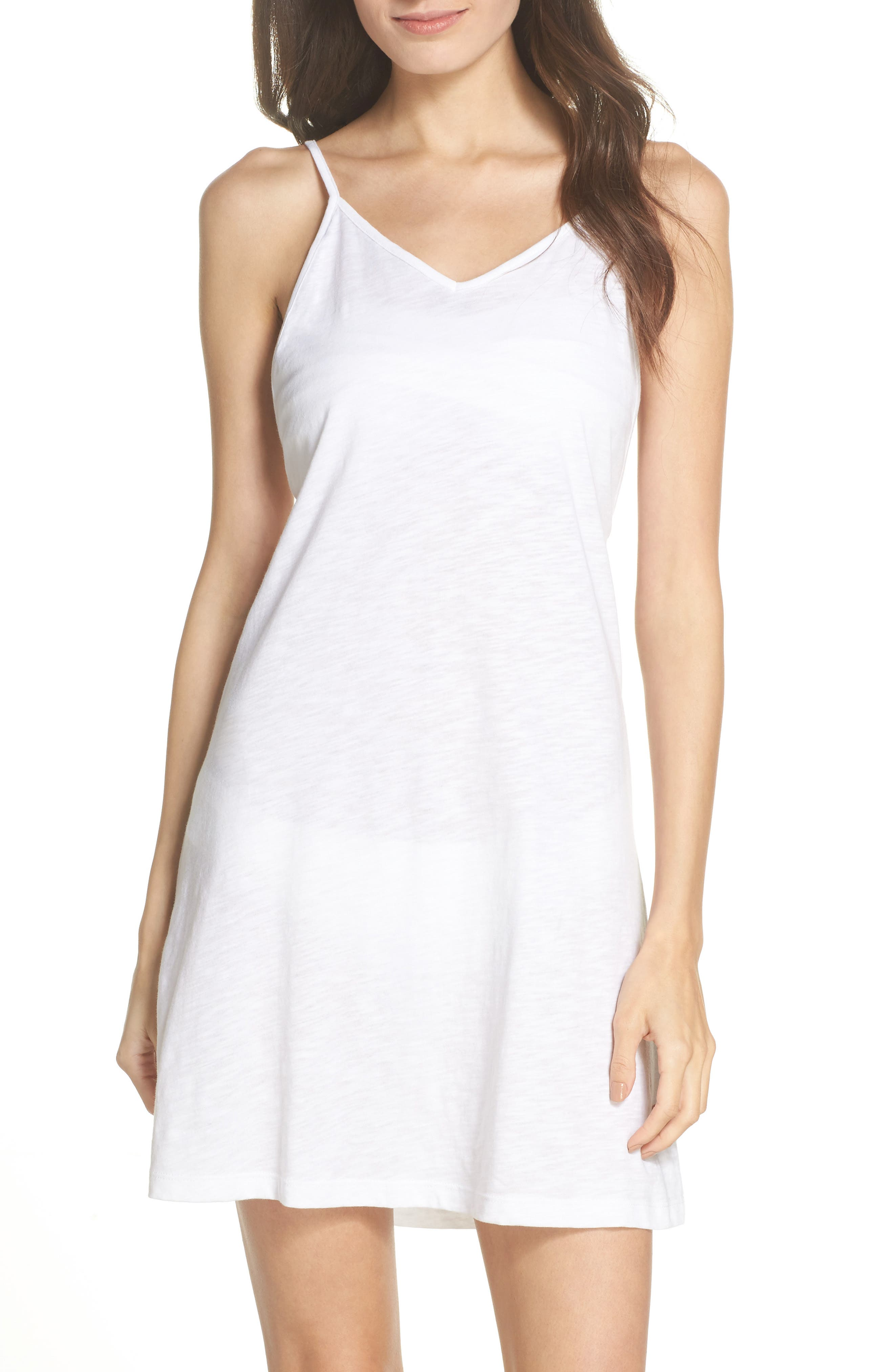 PomPom Cover-Up Dress,                         Main,                         color, White