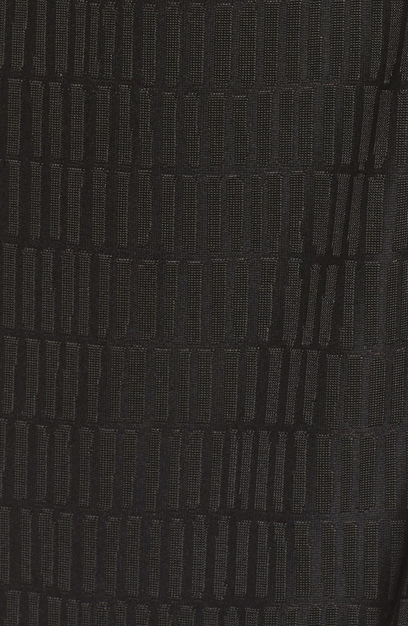 Jacquard Faux Wrap Dress,                             Alternate thumbnail 5, color,                             Graphite