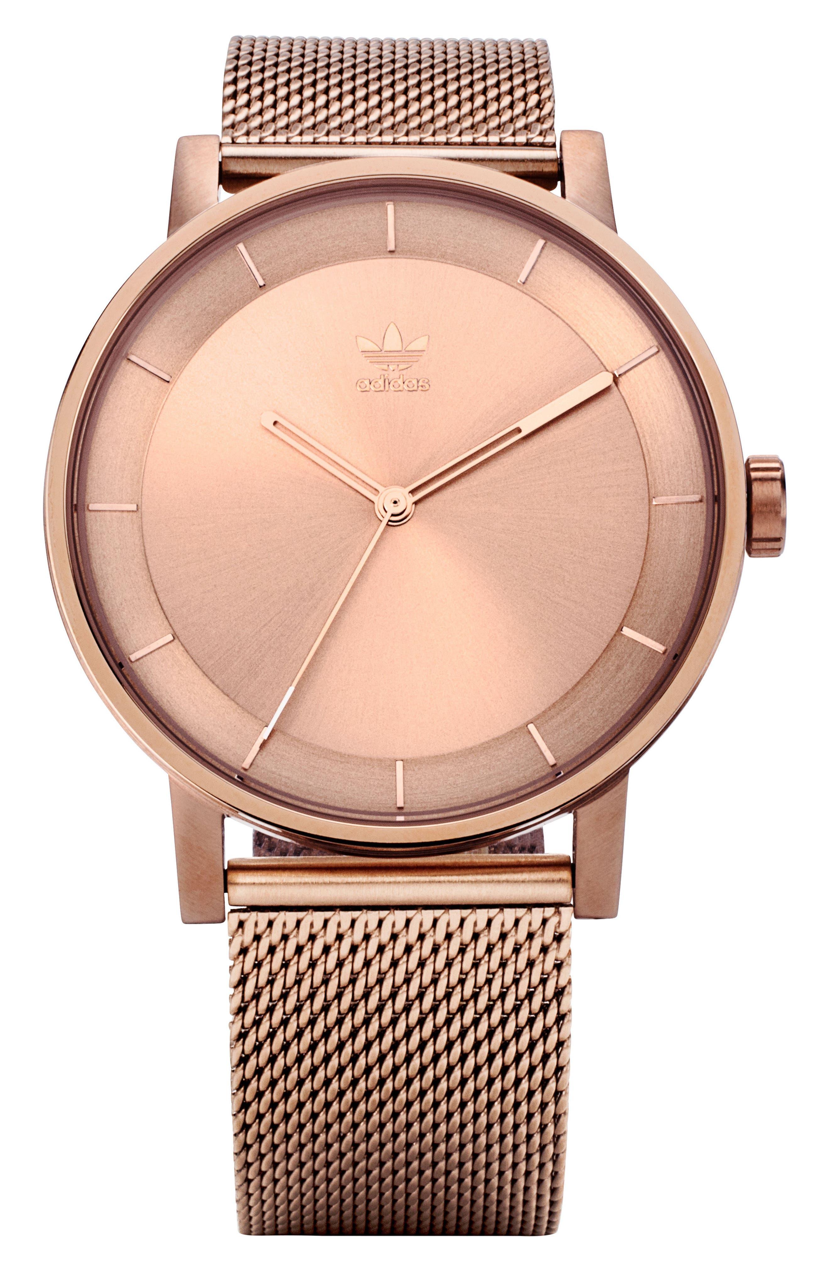 District Milanese Bracelet Watch, 40mm,                             Main thumbnail 1, color,                             Rose Gold