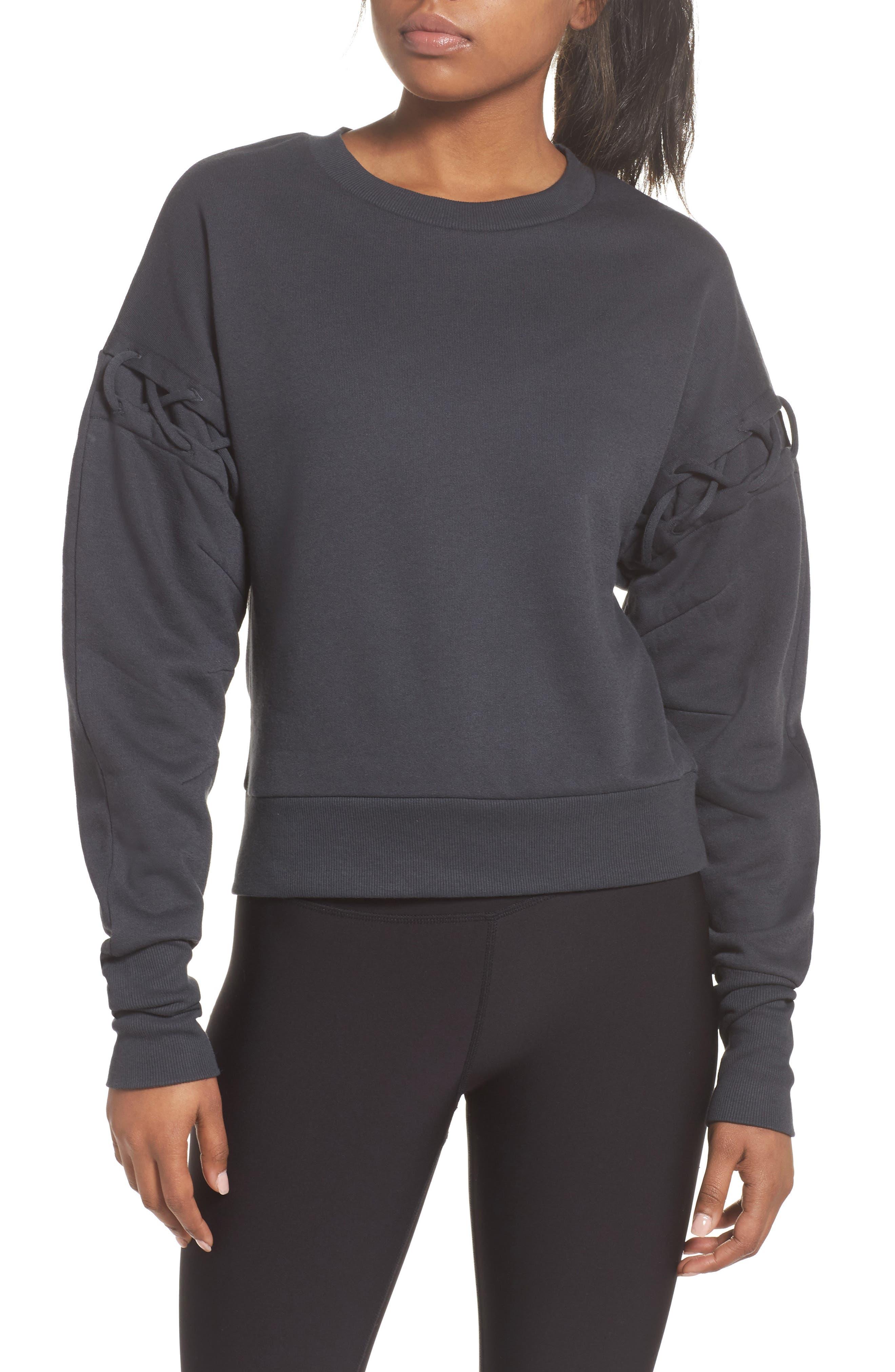 Main Image - Alo Lattice Long Sleeve Pullover