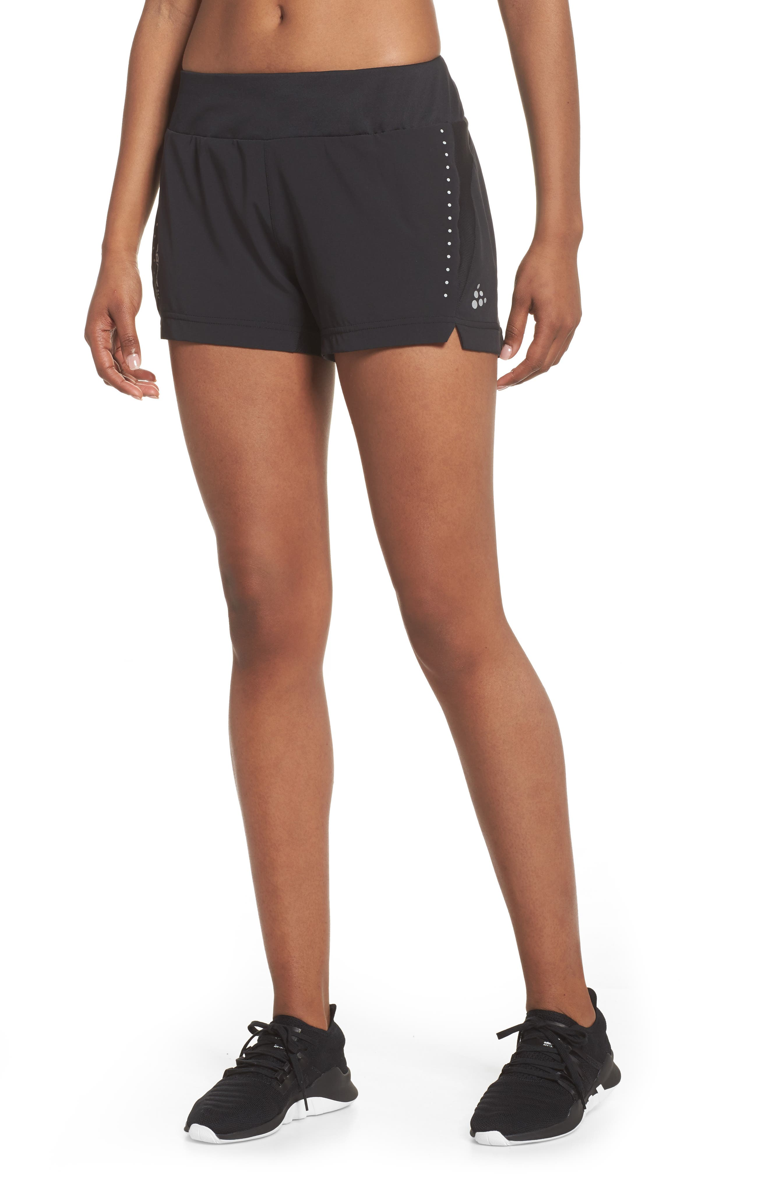 Essential Running Shorts,                         Main,                         color, Black