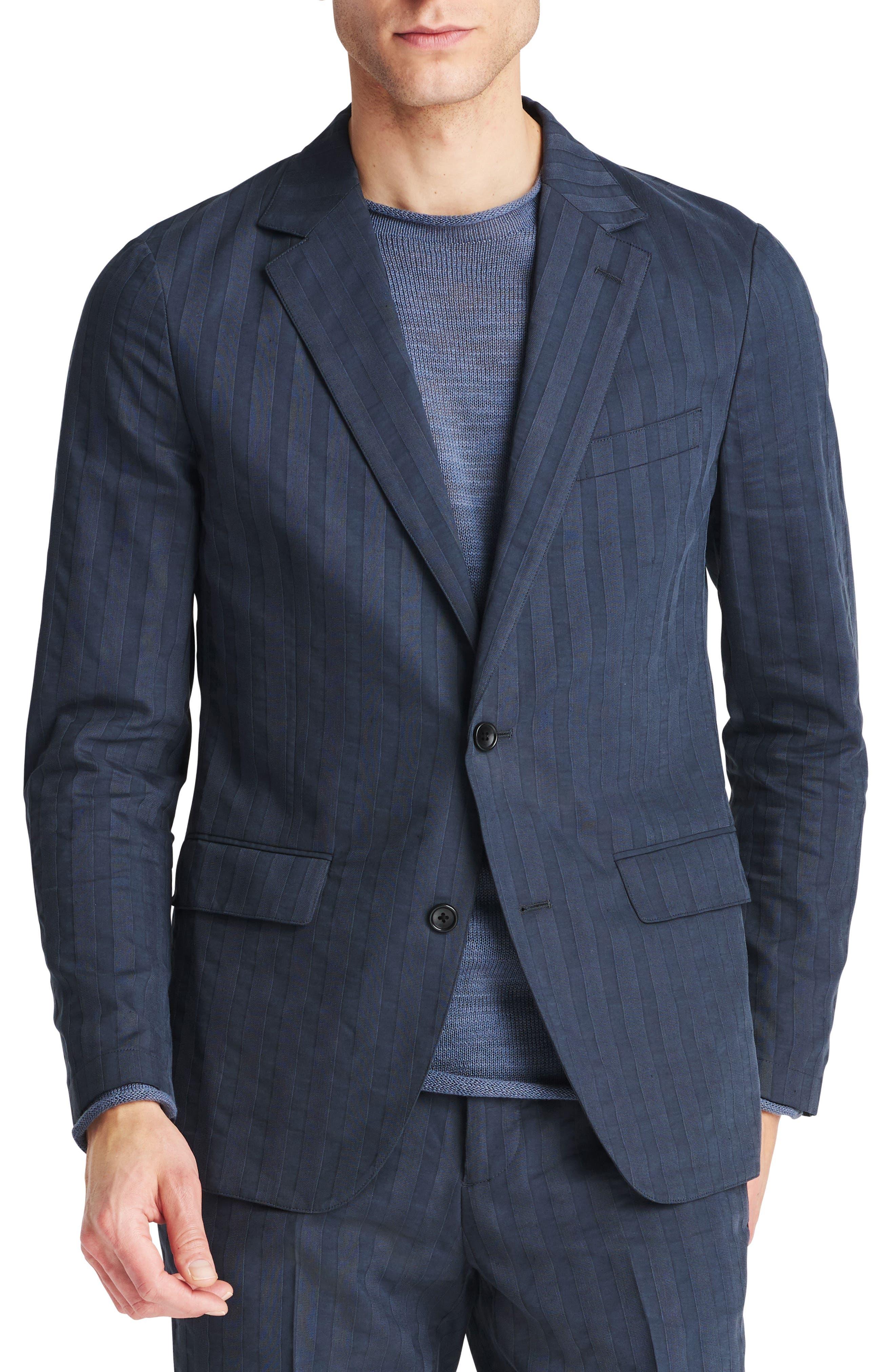 Slim Fit Stripe Blazer,                             Main thumbnail 1, color,                             Stripe Shirtmake