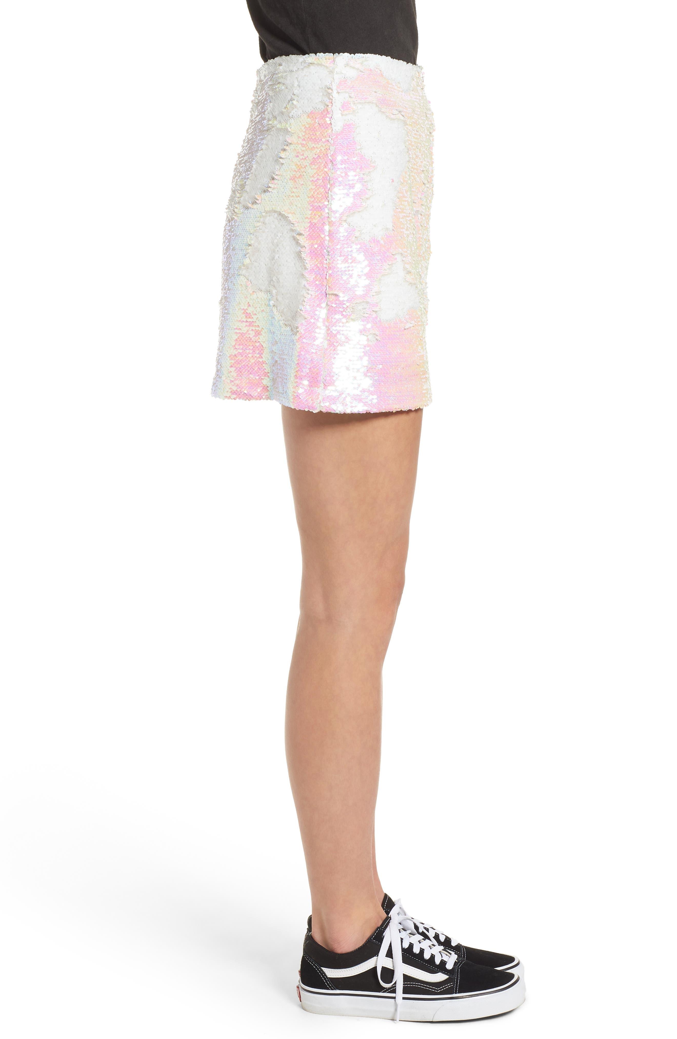 Kool Thing Sequin Skirt,                             Alternate thumbnail 3, color,                             Pink Multi